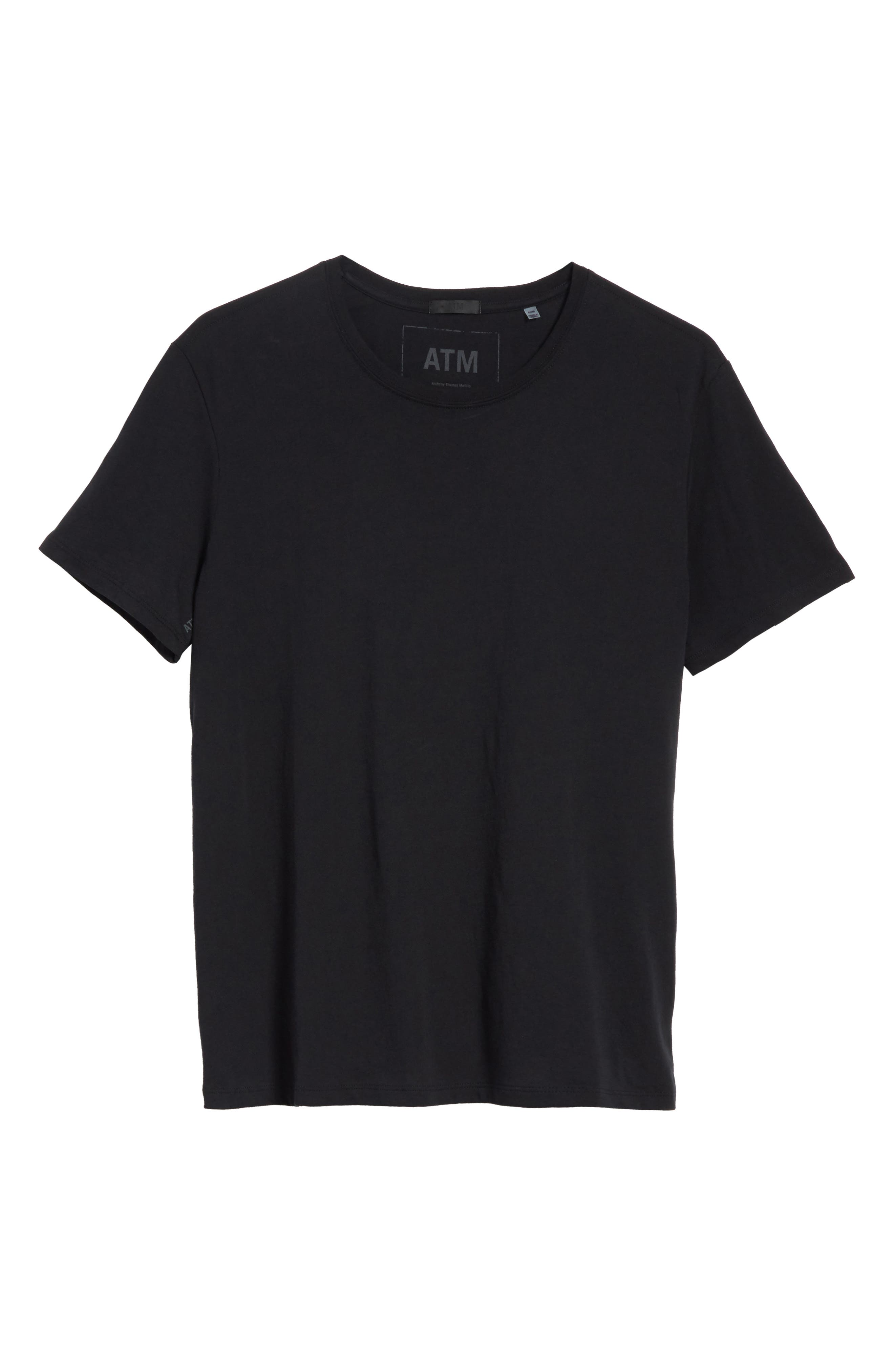 Cotton Jersey T-Shirt,                             Alternate thumbnail 7, color,                             001