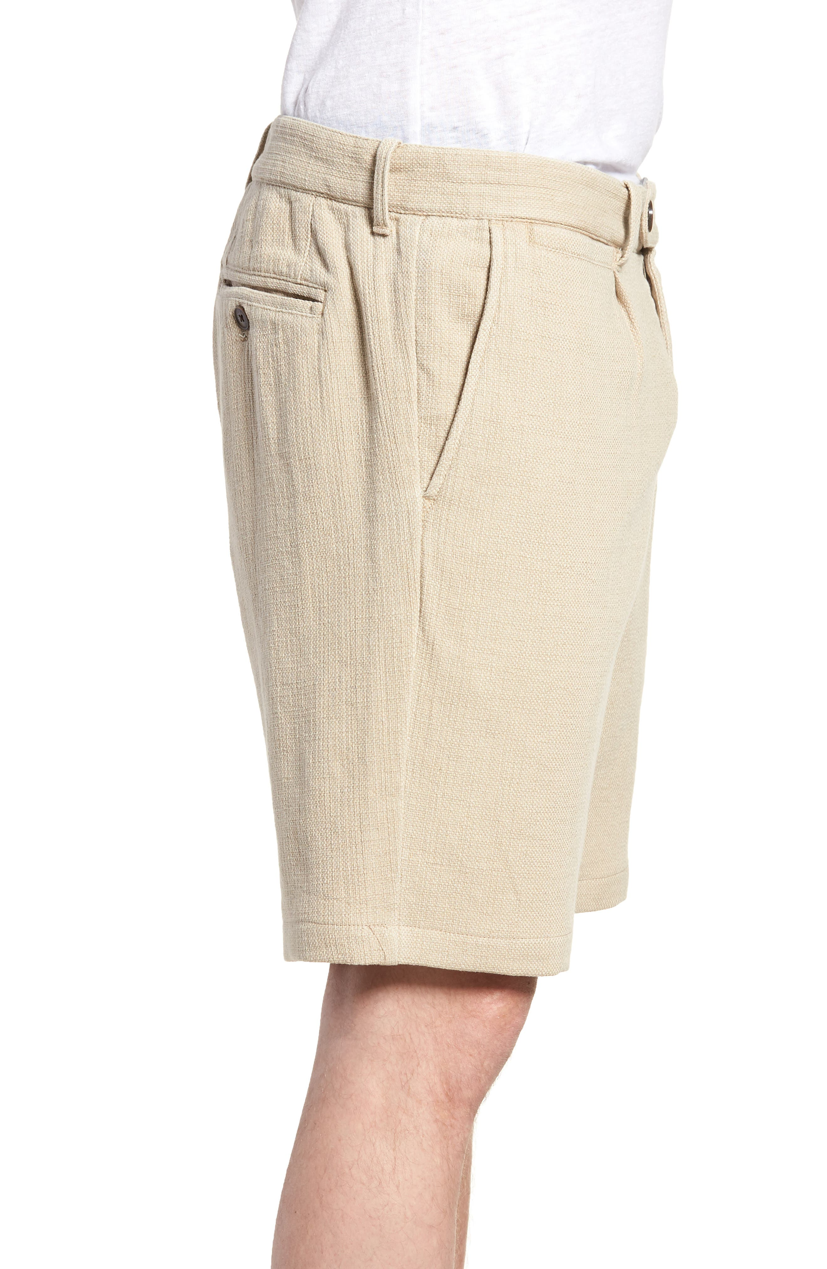 Thomas Regular Fit Pleated Shorts,                             Alternate thumbnail 3, color,                             250