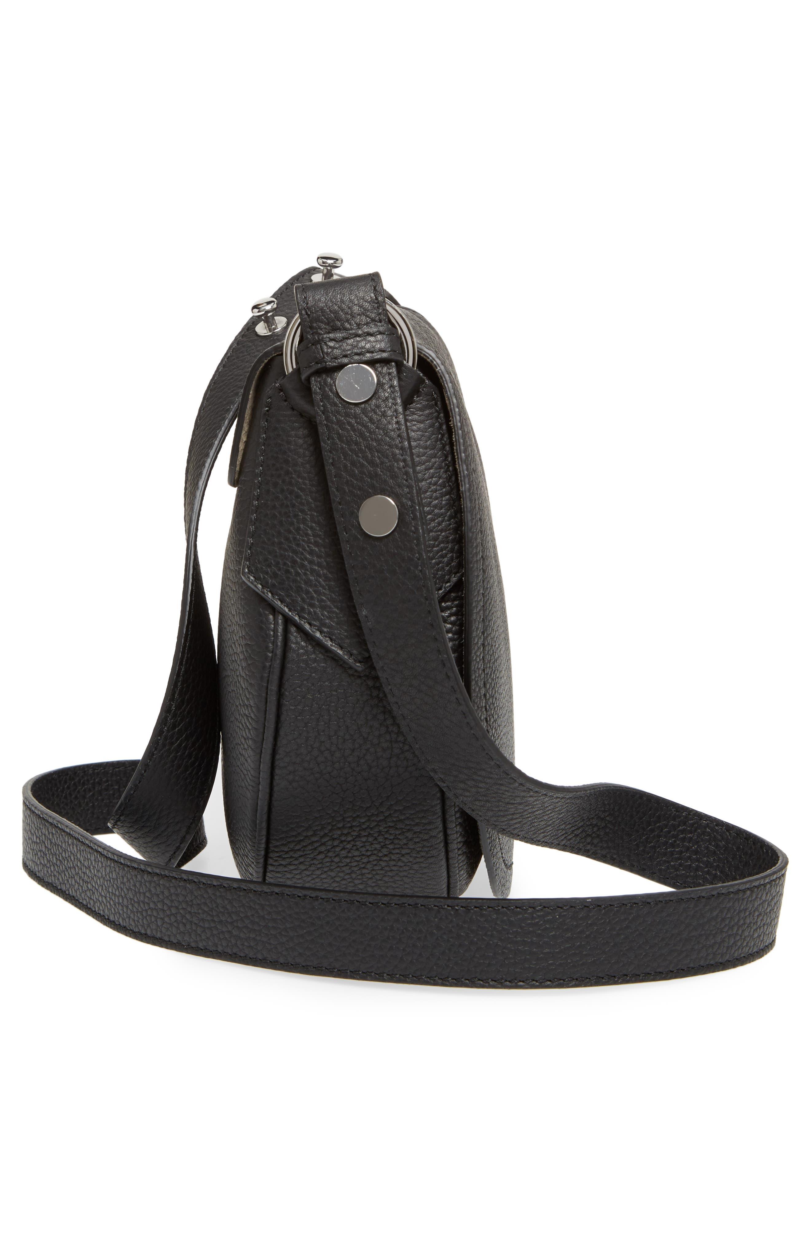 Mini Valeria Cachemire Leather Crossbody Bag,                             Alternate thumbnail 5, color,                             001