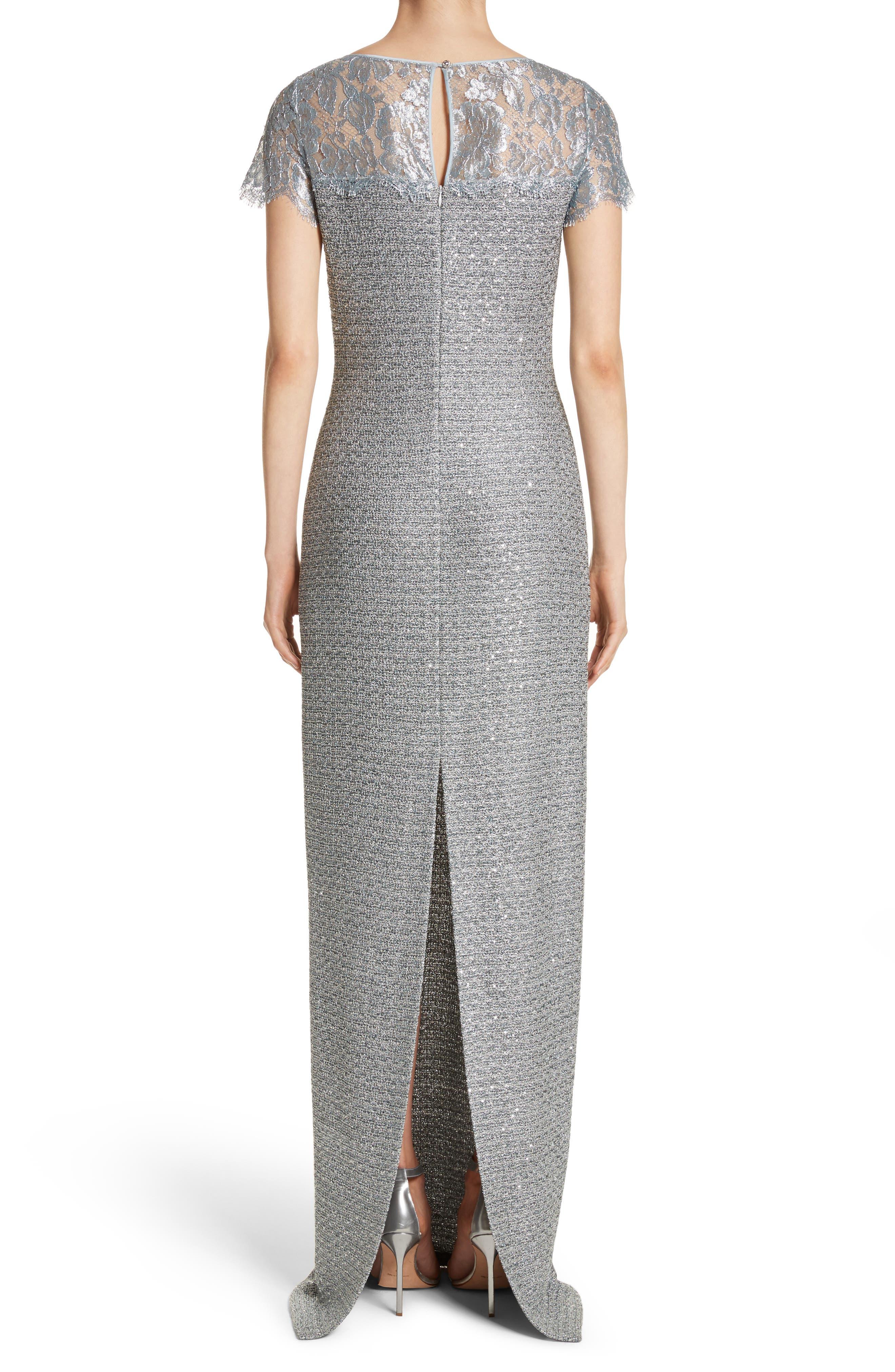 Metallic Knit Gown,                             Alternate thumbnail 2, color,                             020