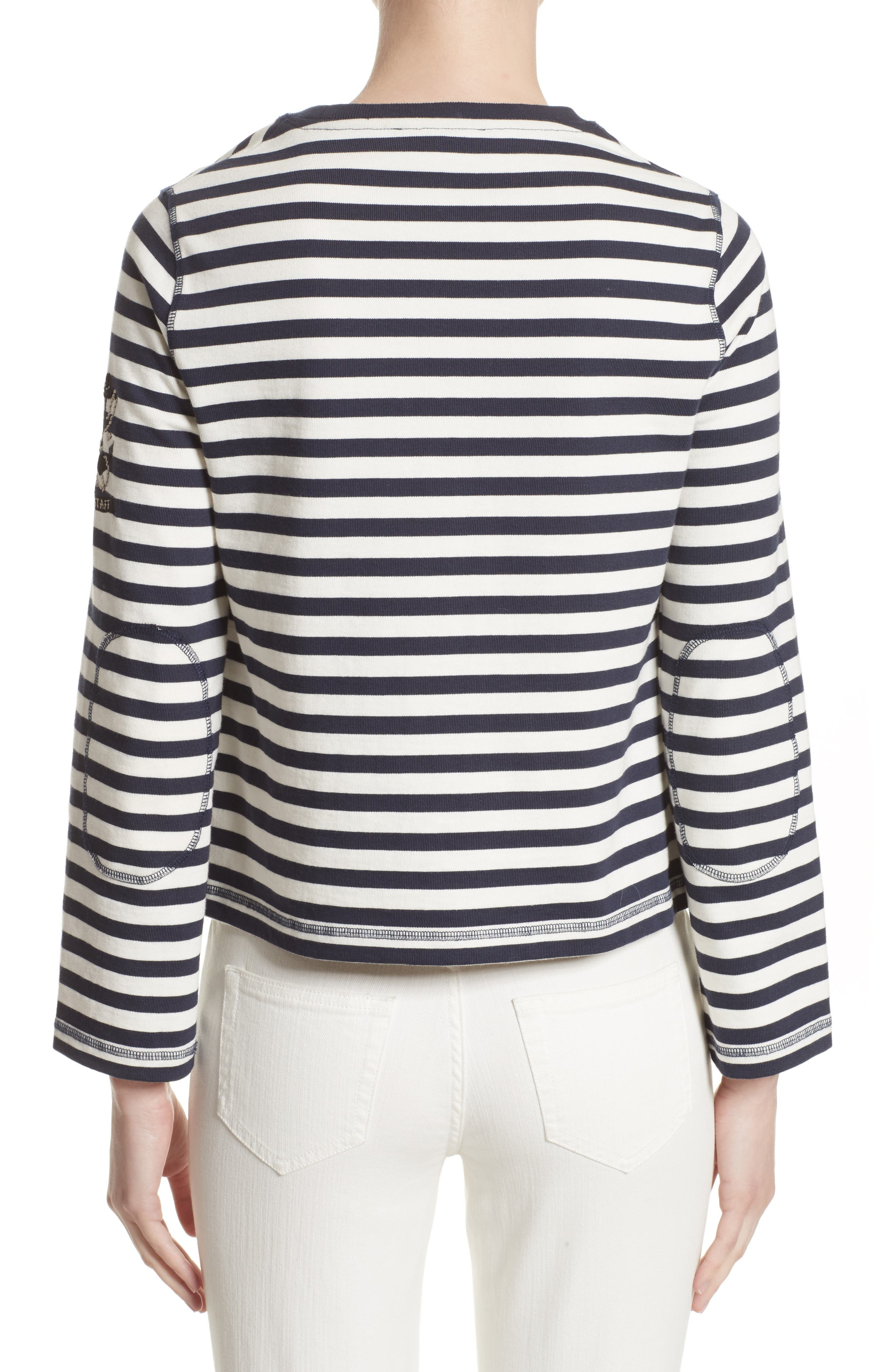 Christina Stripe Cotton Sweater,                             Alternate thumbnail 2, color,                             111