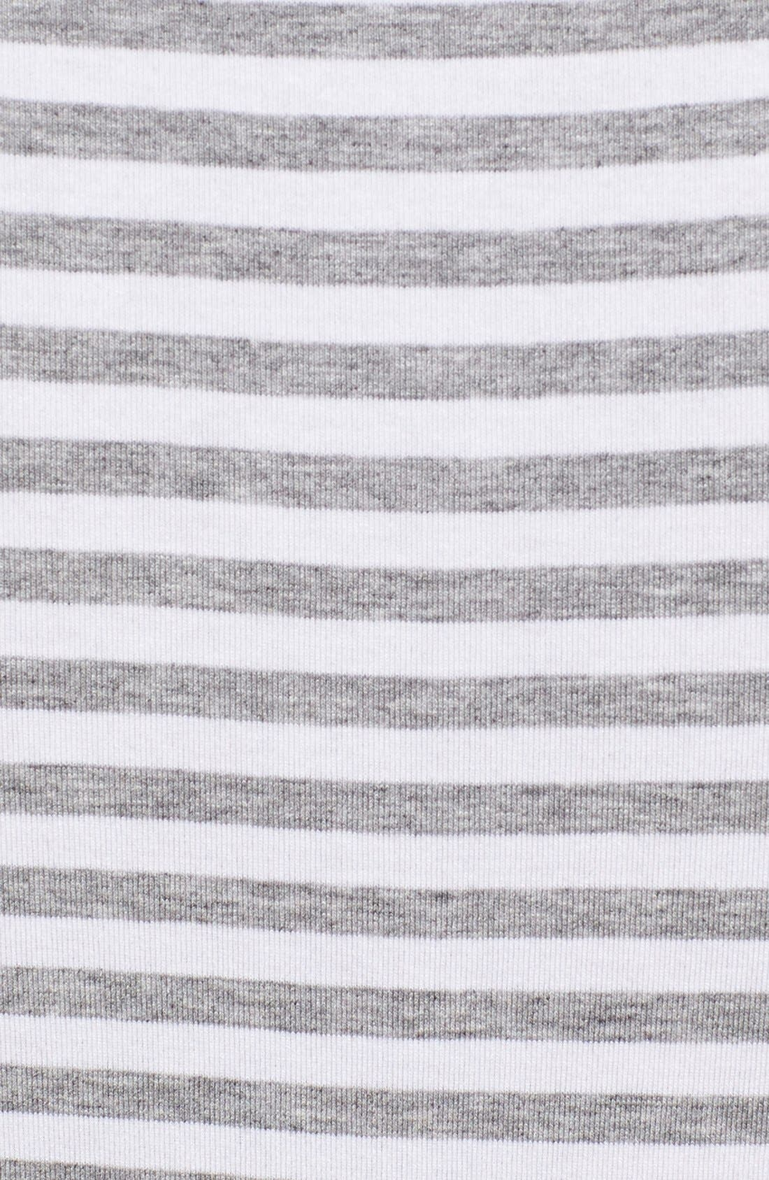 Stripe Jersey Cutaway Shoulder Maxi Dress,                             Alternate thumbnail 2, color,                             078