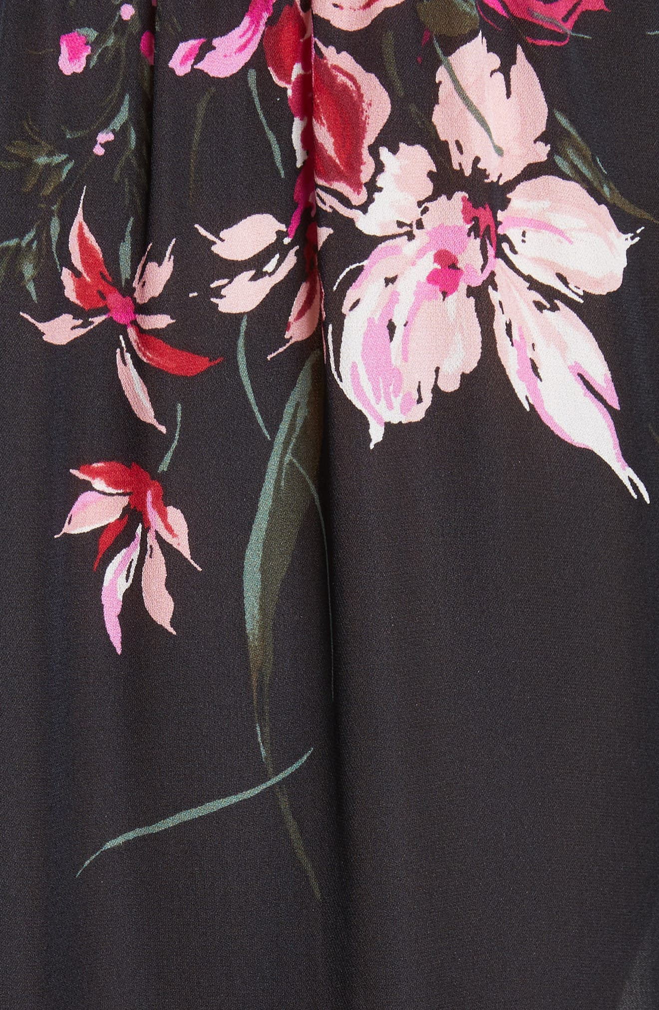 Keno Bell Sleeve Silk Blouse,                             Alternate thumbnail 5, color,                             696