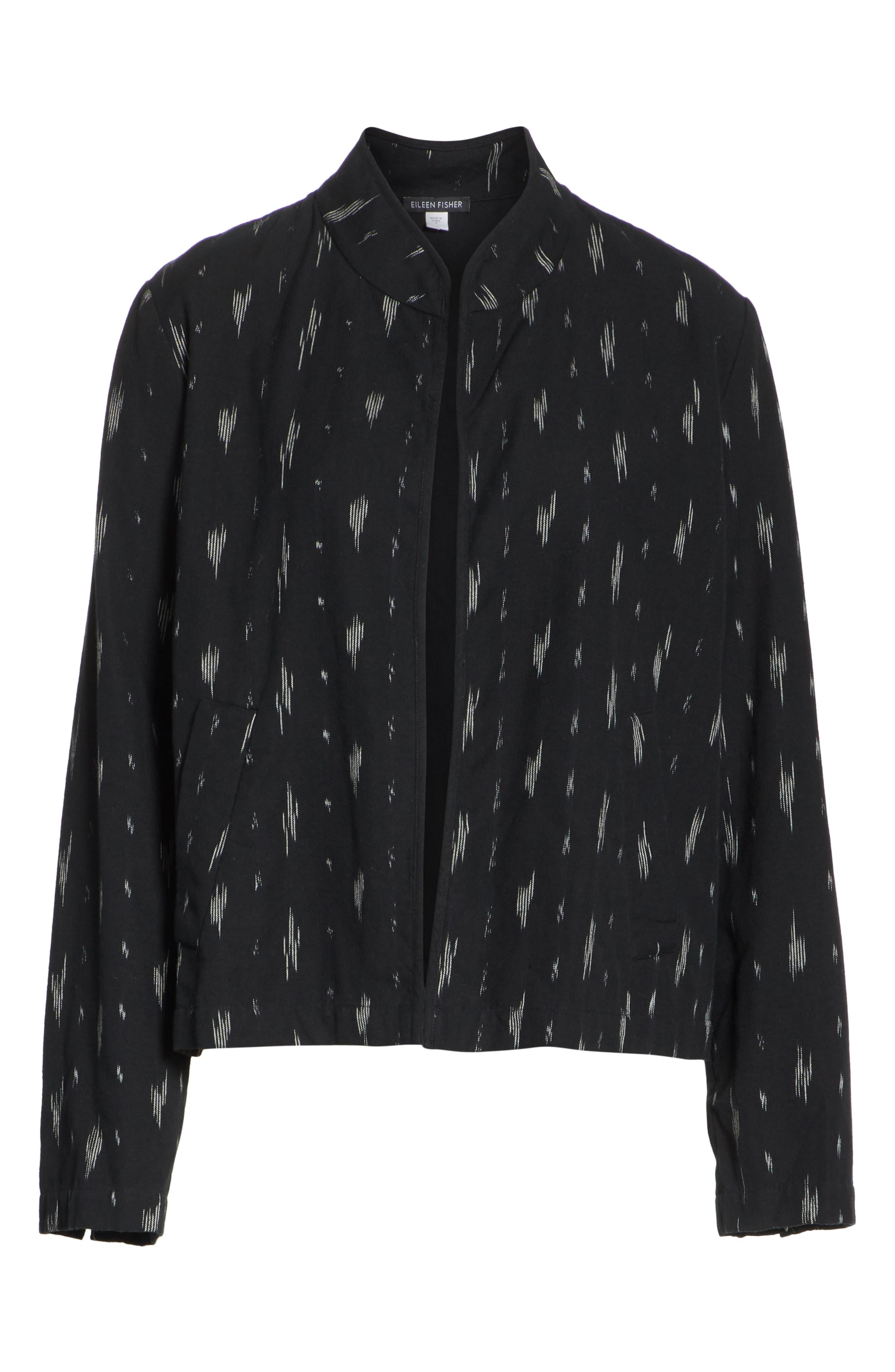 EILEEN FISHER,                             Organic Cotton Jacket,                             Alternate thumbnail 5, color,                             001