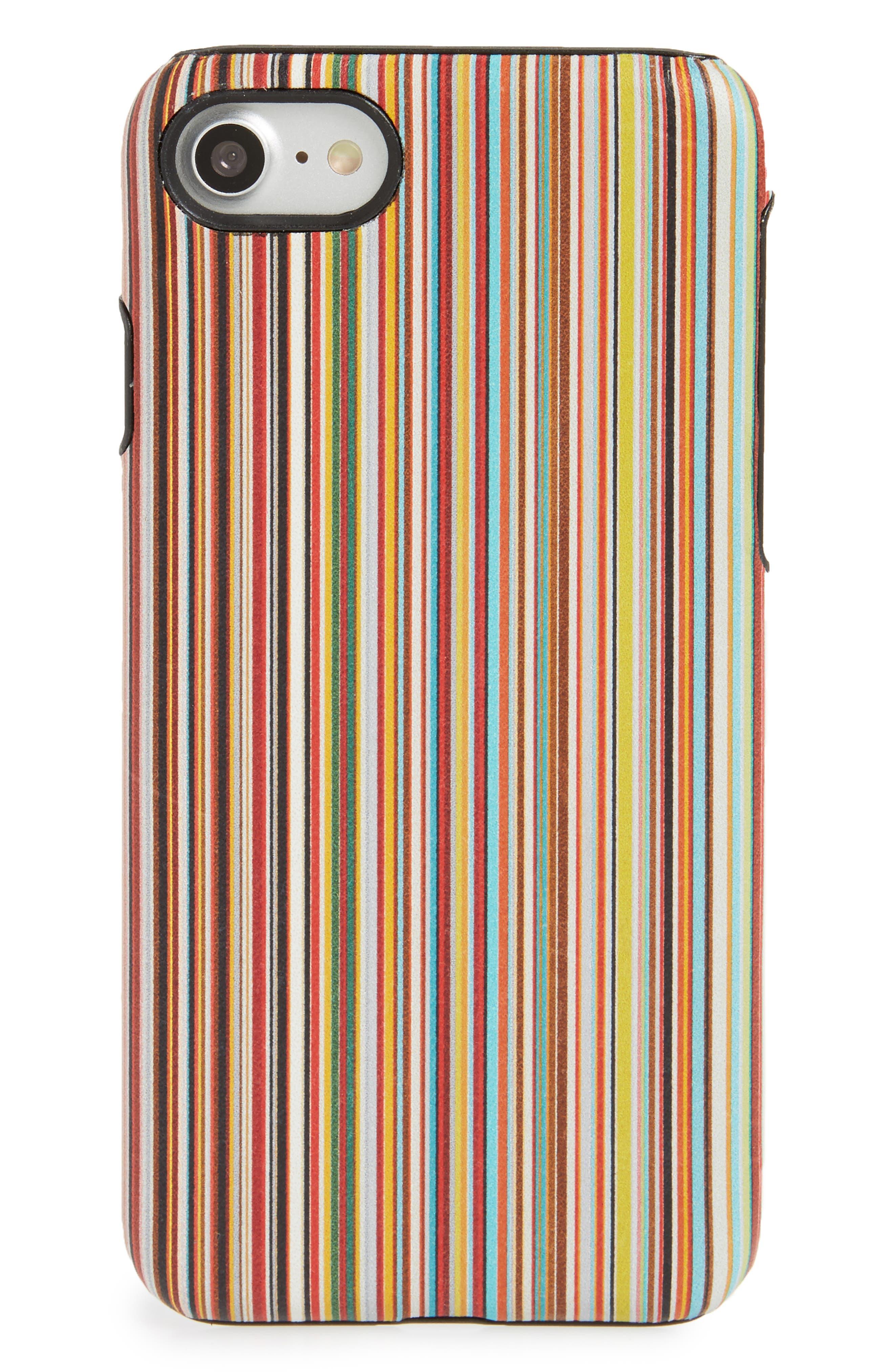 Multistripe iPhone 7 case,                         Main,                         color, 001