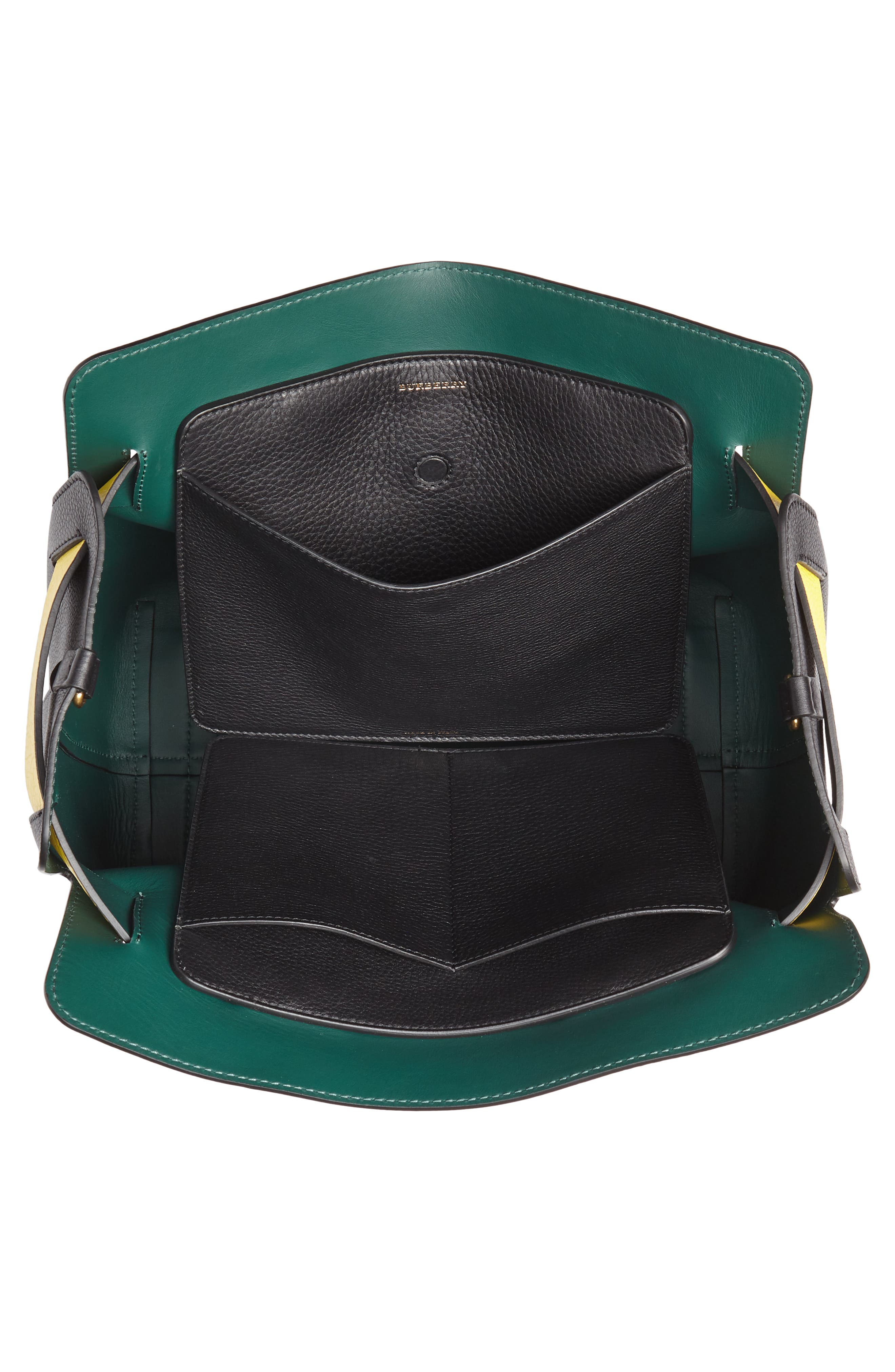 Medium Belt Bag Leather Tote,                             Alternate thumbnail 5, color,                             001