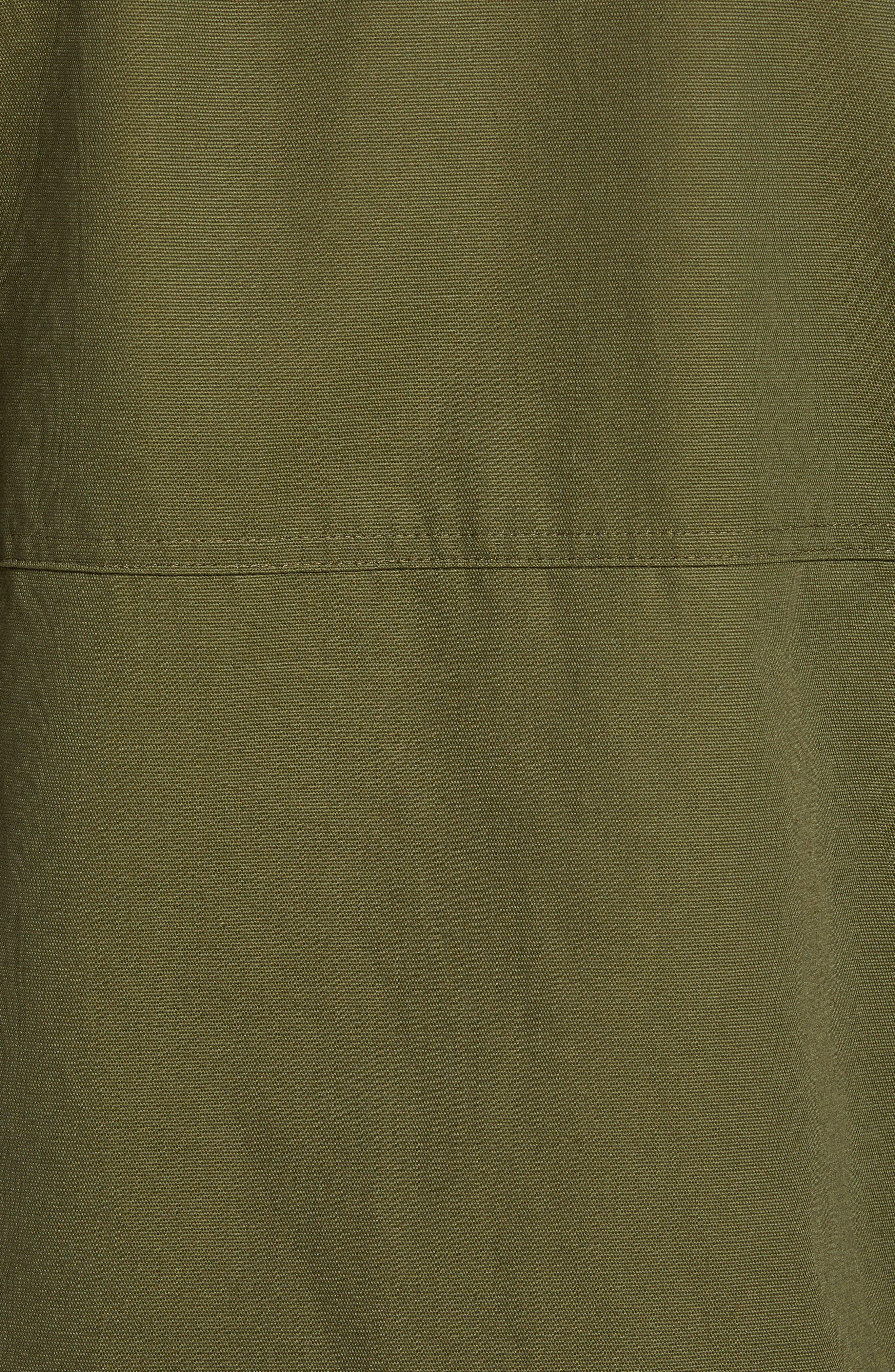 Mac A-Frame Jacket,                             Alternate thumbnail 7, color,                             OLIVE CANVAS