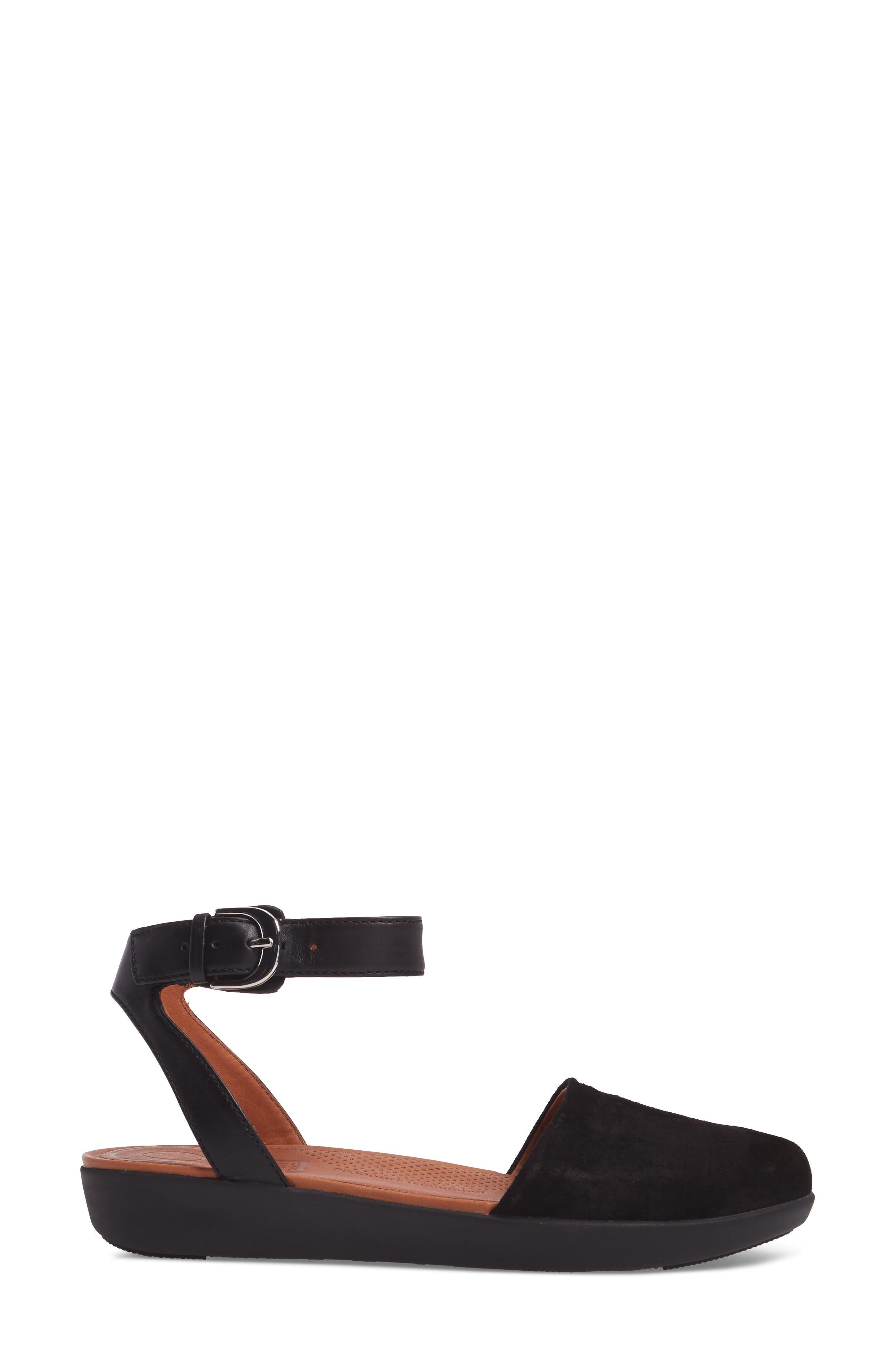 Cova Ankle Strap Sandal,                             Alternate thumbnail 3, color,                             001