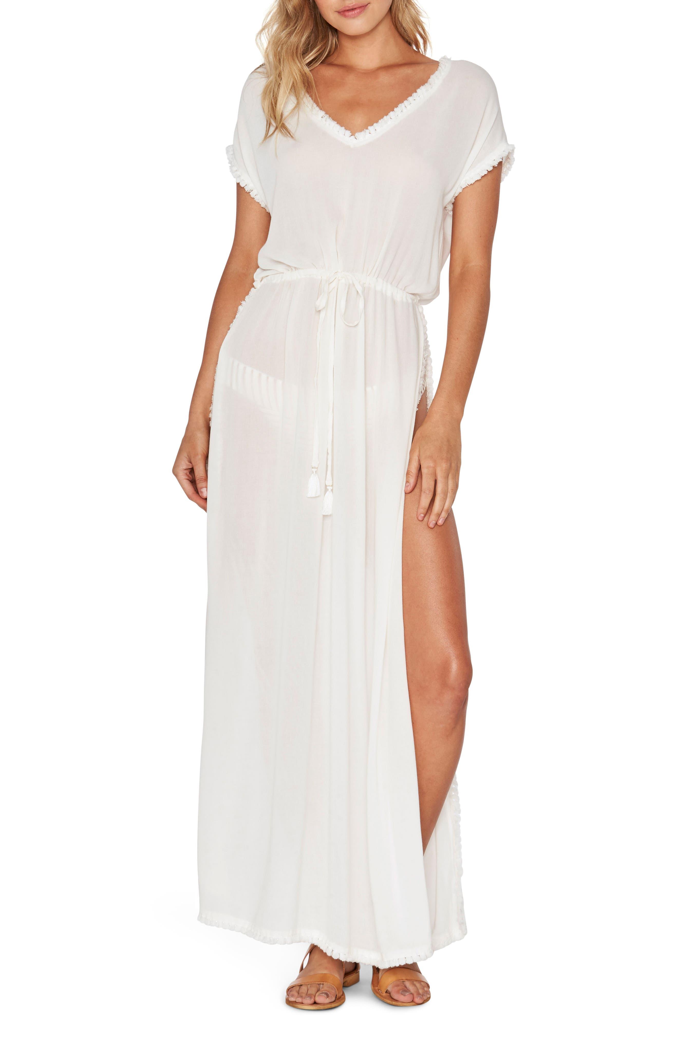 Noveau Cover-Up Maxi Dress,                         Main,                         color, 100