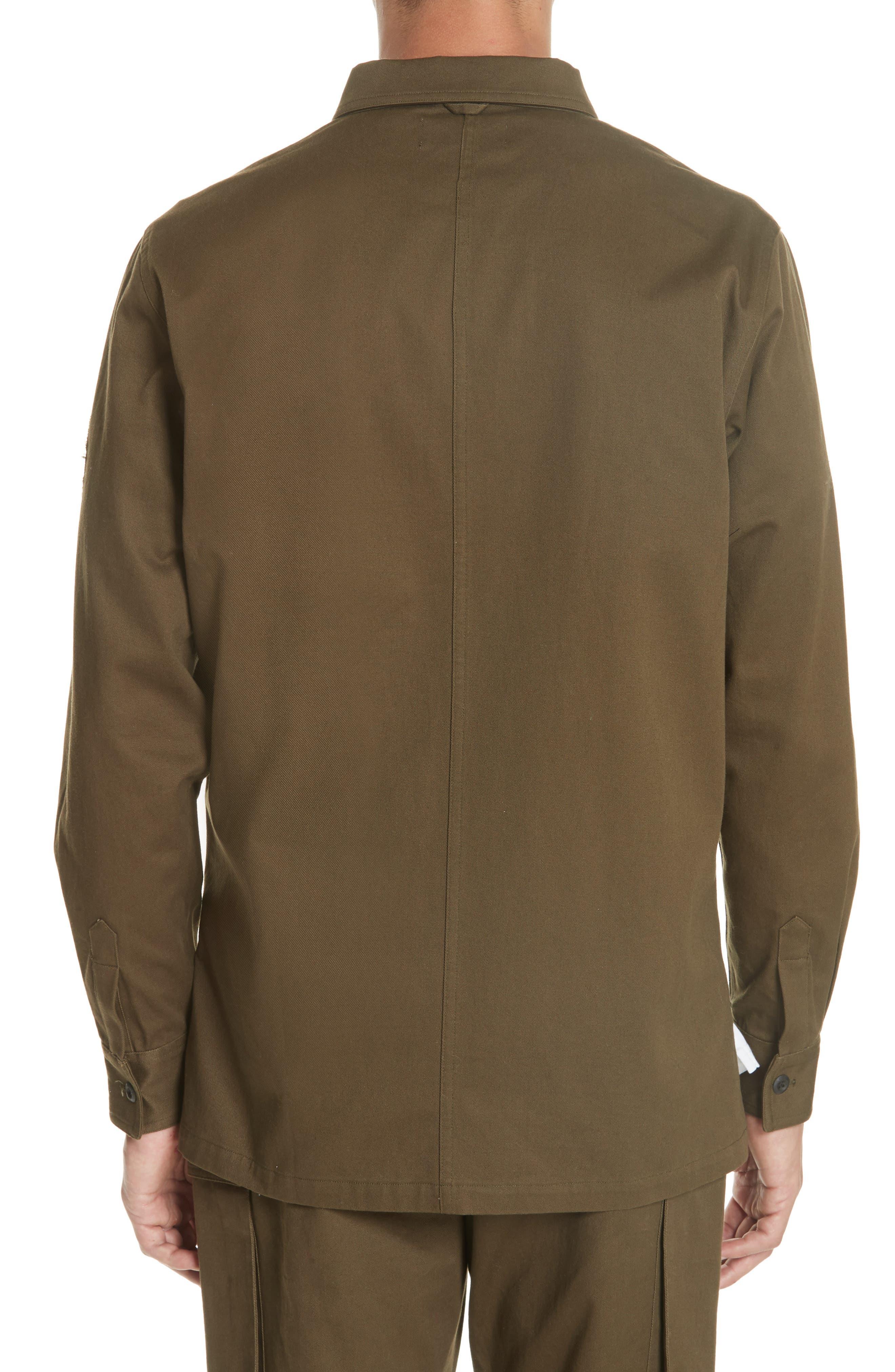 OVADIA & SONS,                             Military Woven Shirt,                             Alternate thumbnail 2, color,                             325