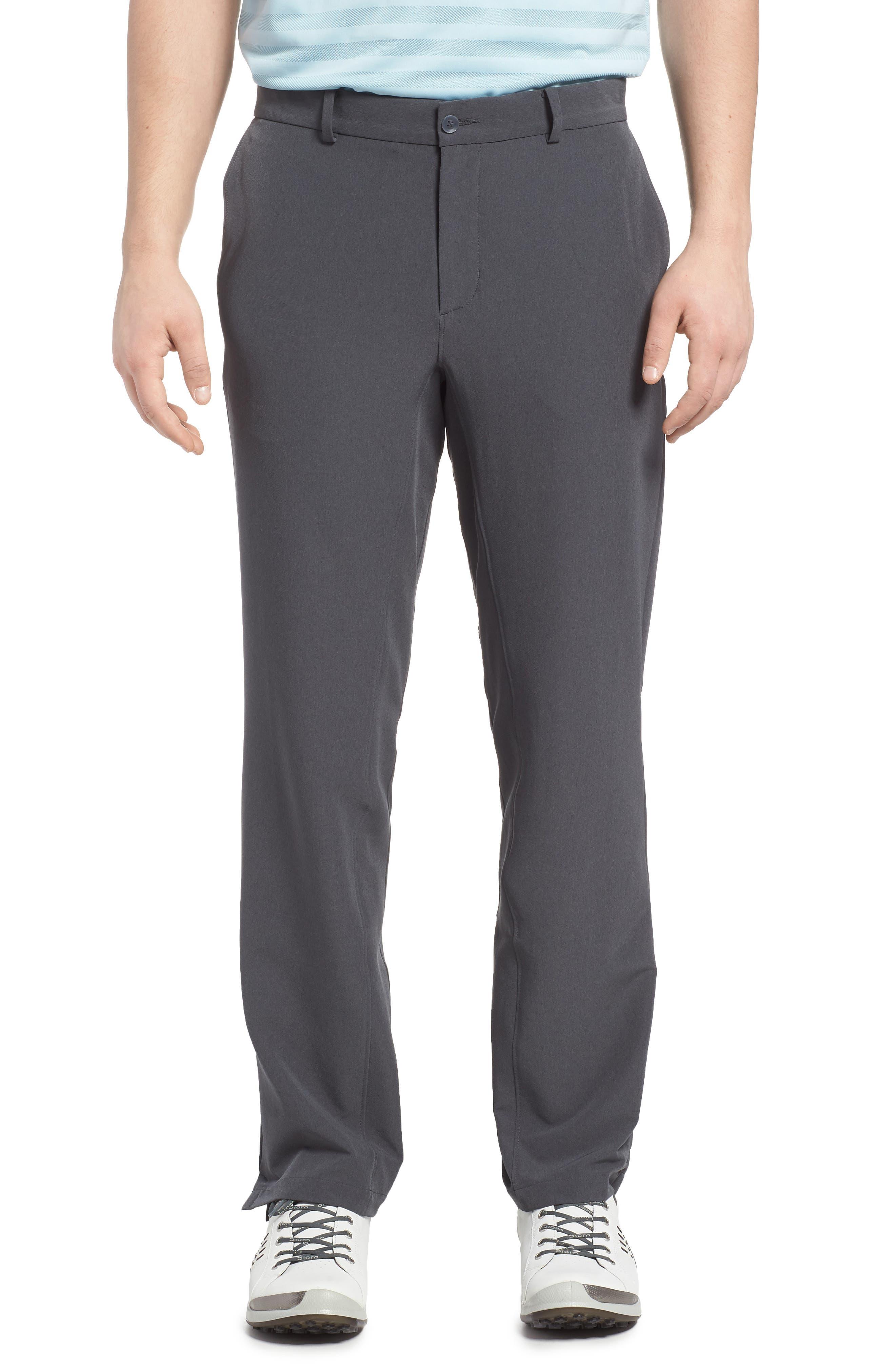Hybrid Flex Golf Pants,                         Main,                         color, CHARCOAL HEATHER/ DARK GREY