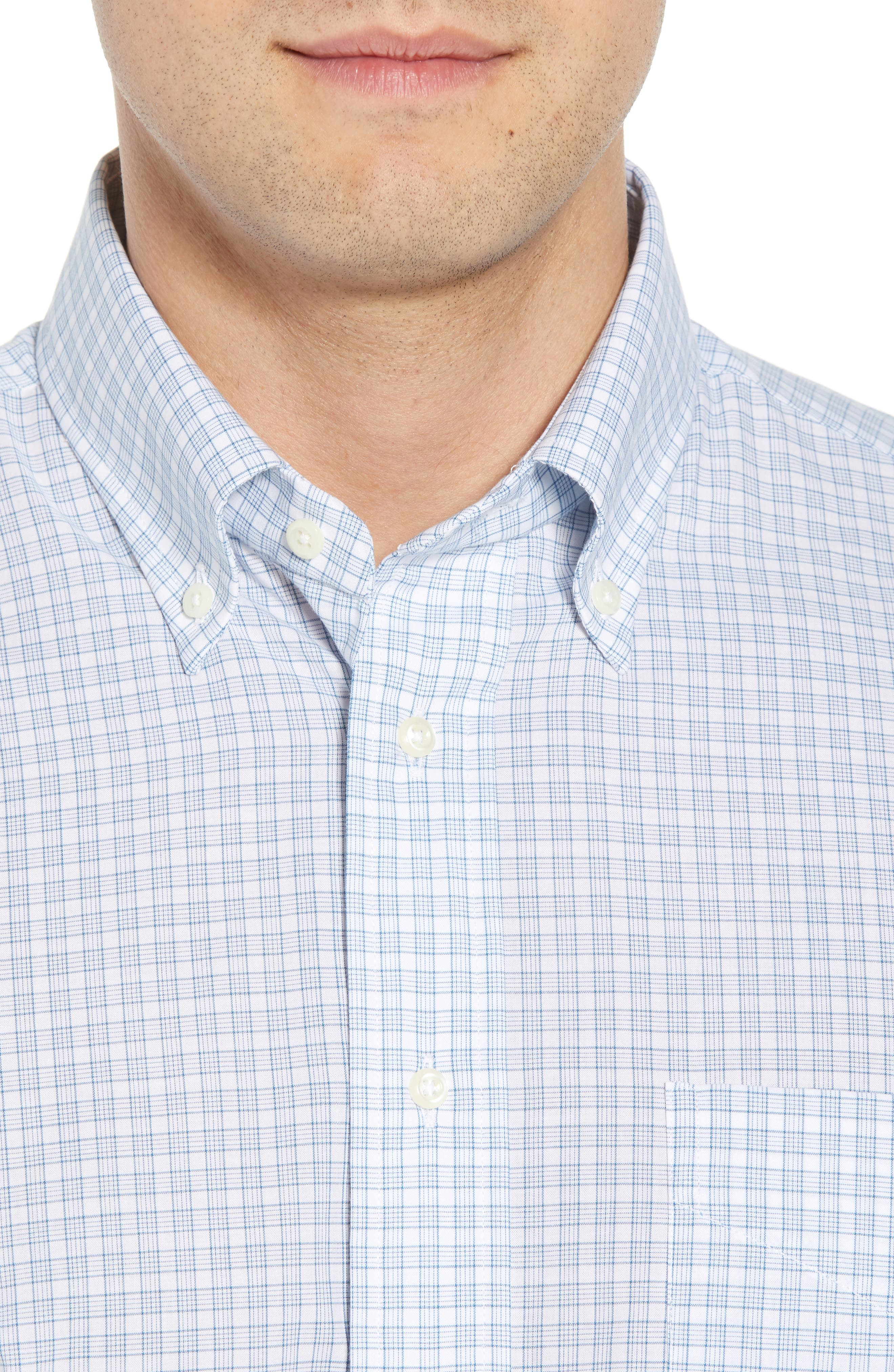 Tailored Fit Check Dress Shirt,                             Alternate thumbnail 2, color,                             NAVY