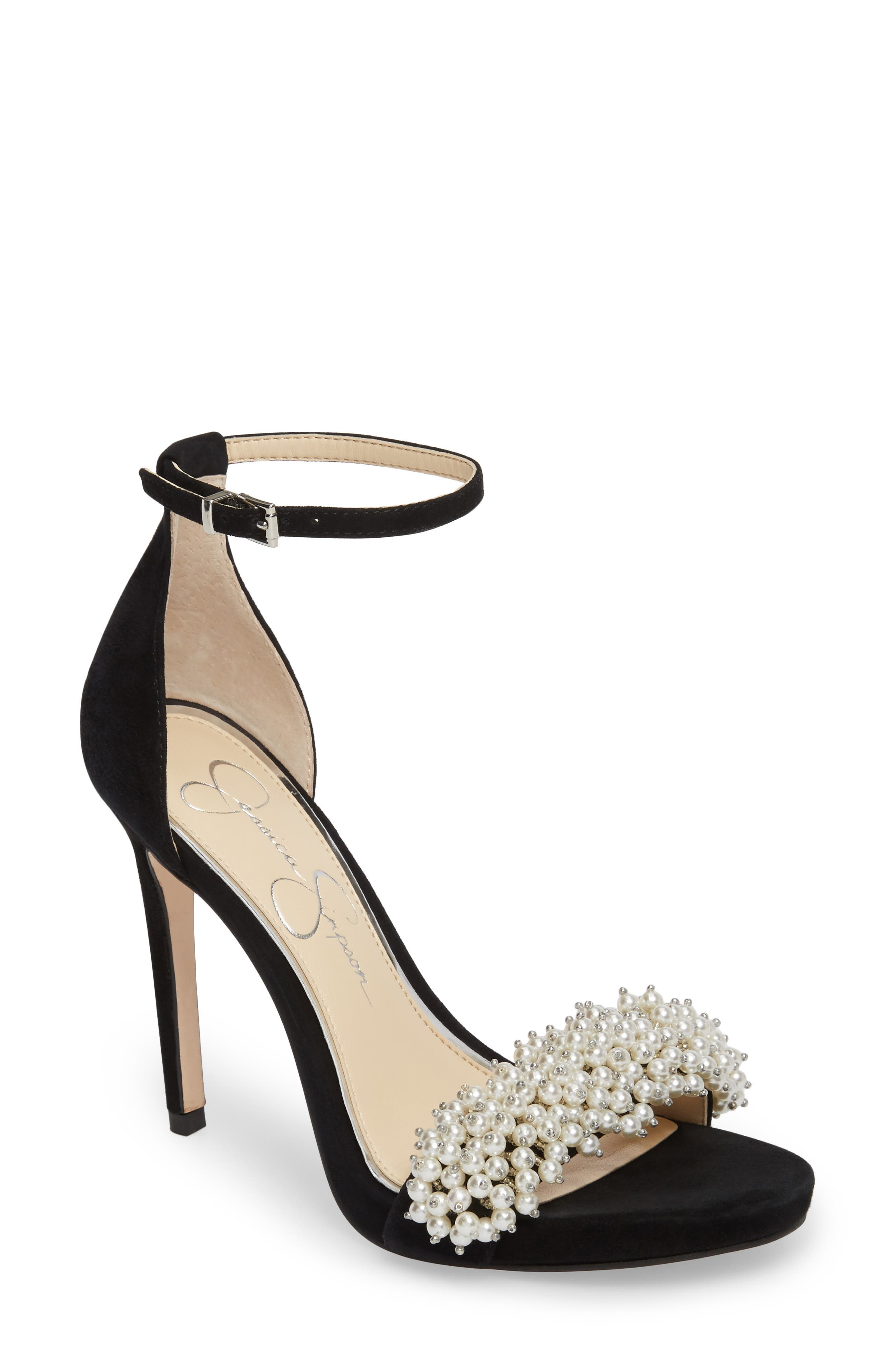 Rusley Imitation Pearl Sandal,                         Main,                         color,
