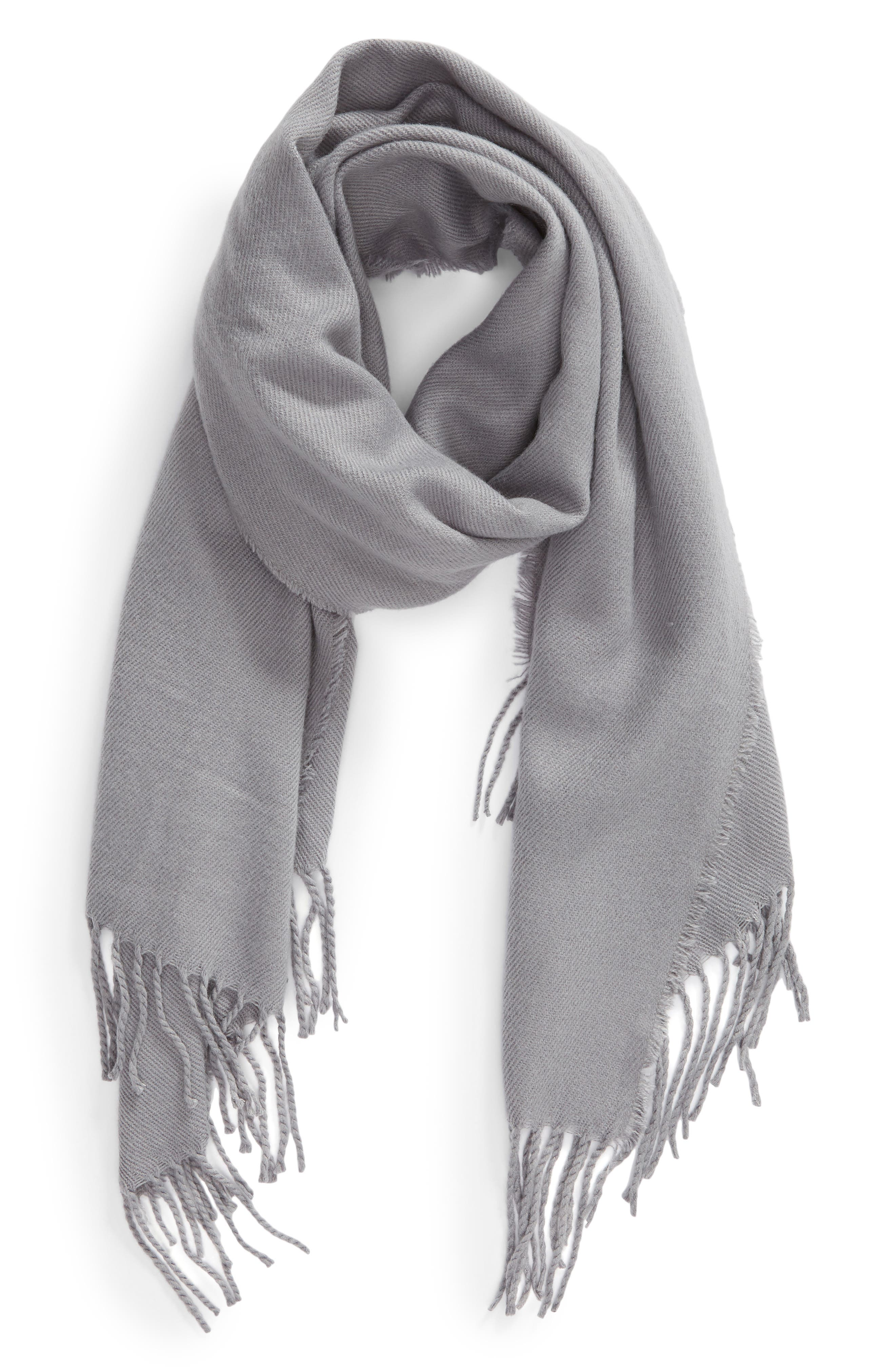 Solid Scarf,                             Alternate thumbnail 2, color,                             GREY LILAC