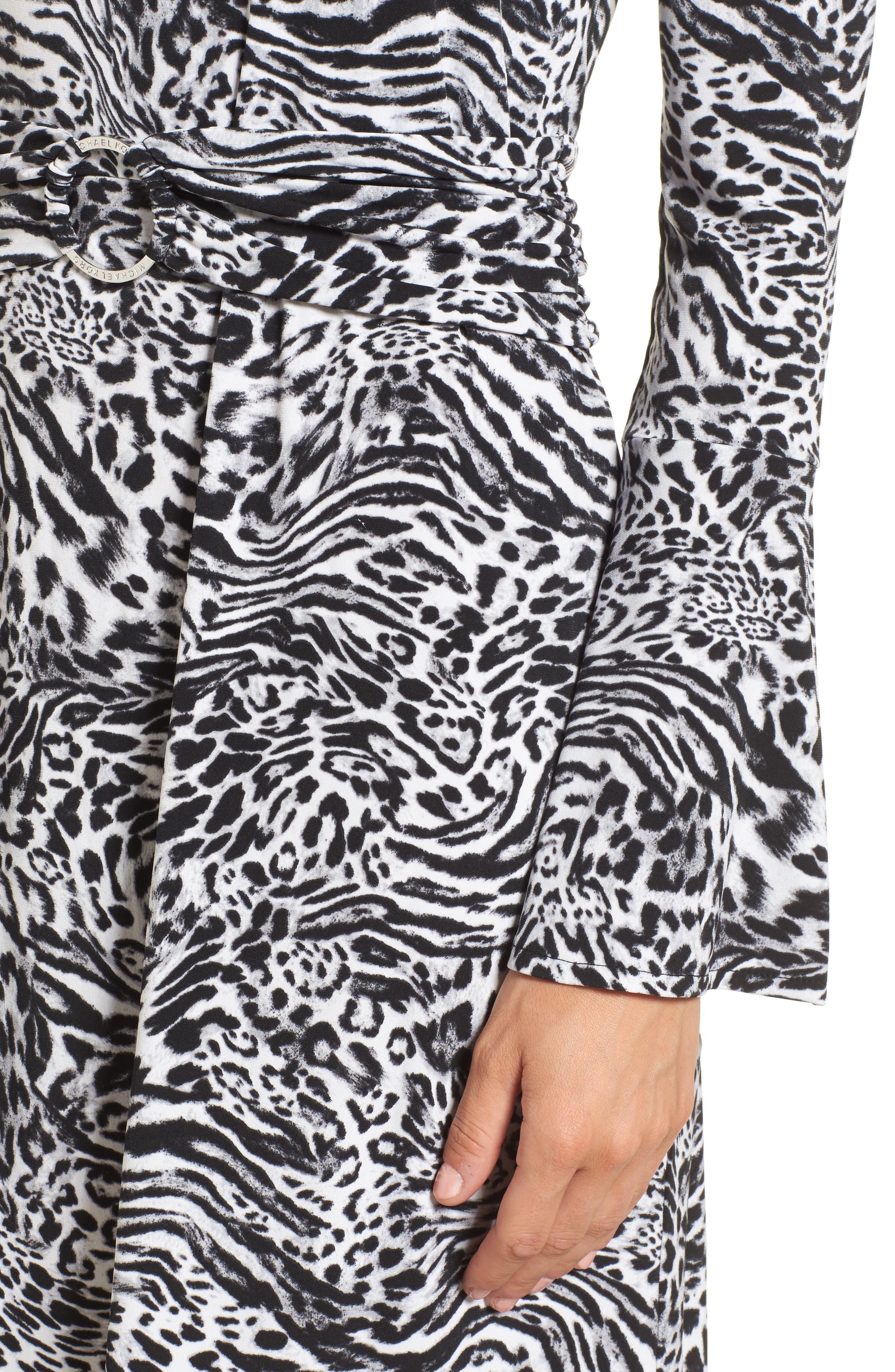 Big Cat A-Line Dress,                             Alternate thumbnail 4, color,                             001