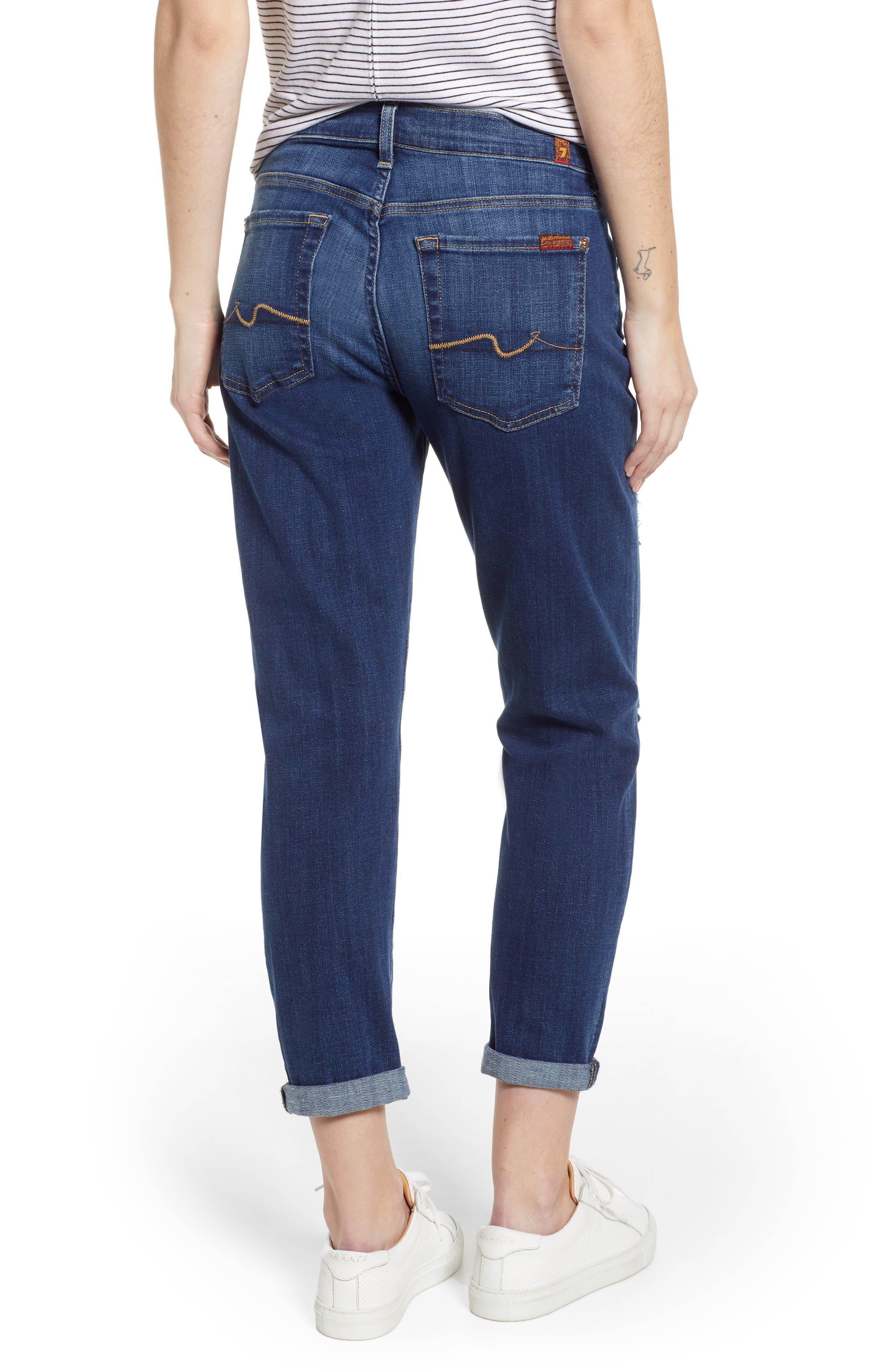 Josefina Boyfriend Jeans,                             Alternate thumbnail 2, color,                             BROKEN TWILL VANITY W/ DESTROY