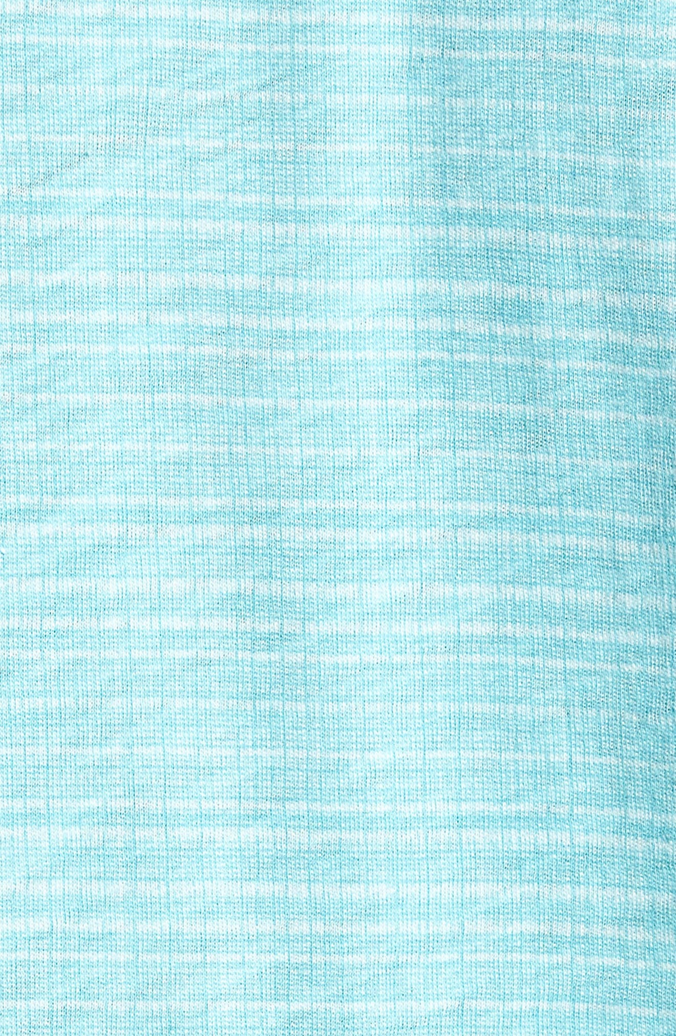 Cedar Regular Fit Grid Print Polo,                             Alternate thumbnail 5, color,                             AQUA
