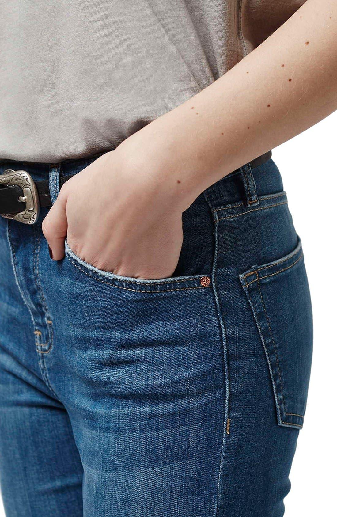 'Jamie' High Waist Ankle Skinny Jeans,                             Alternate thumbnail 7, color,                             400