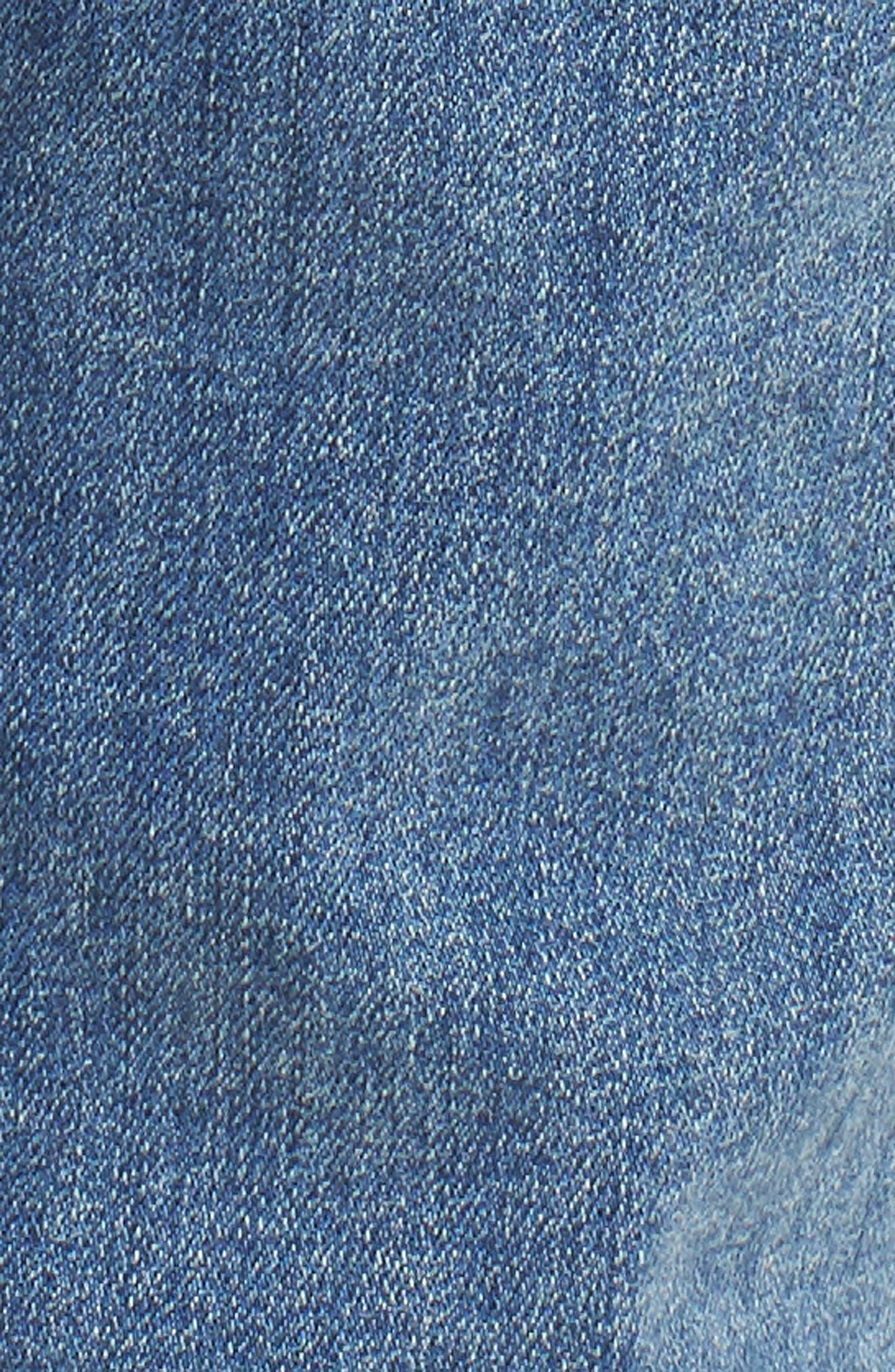 High Waist Crop Jeans,                             Alternate thumbnail 6, color,                             400