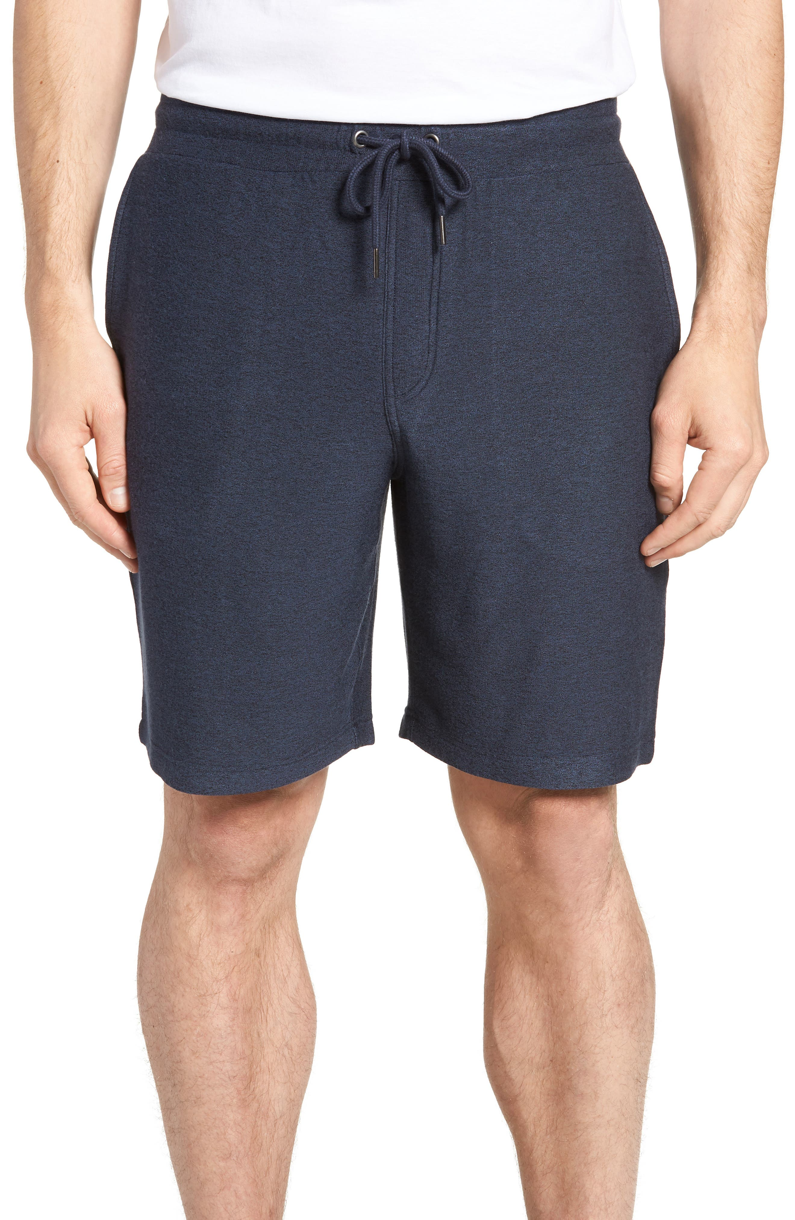 NORDSTROM MEN'S SHOP Lounge Shorts, Main, color, NAVY INDIGO MARL