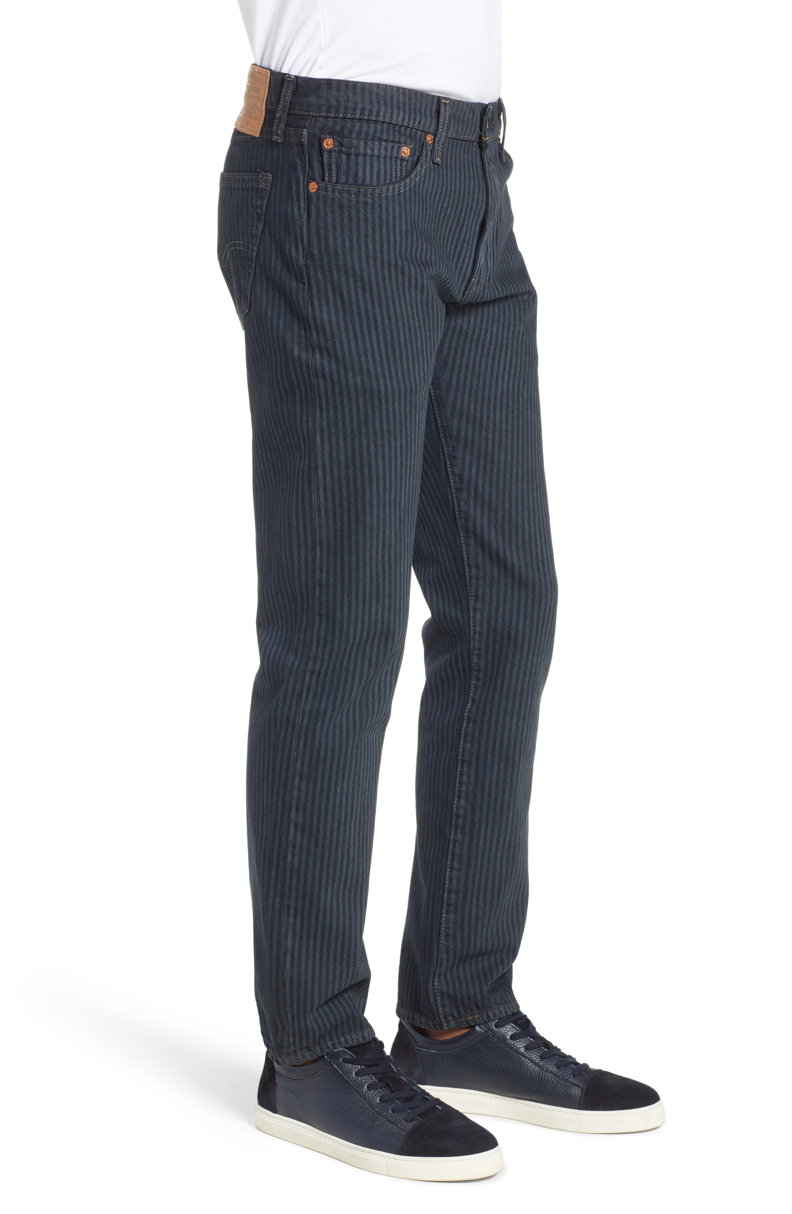 511<sup>™</sup> Stripe Slim Fit Jeans,                             Alternate thumbnail 3, color,                             DARK ONLY