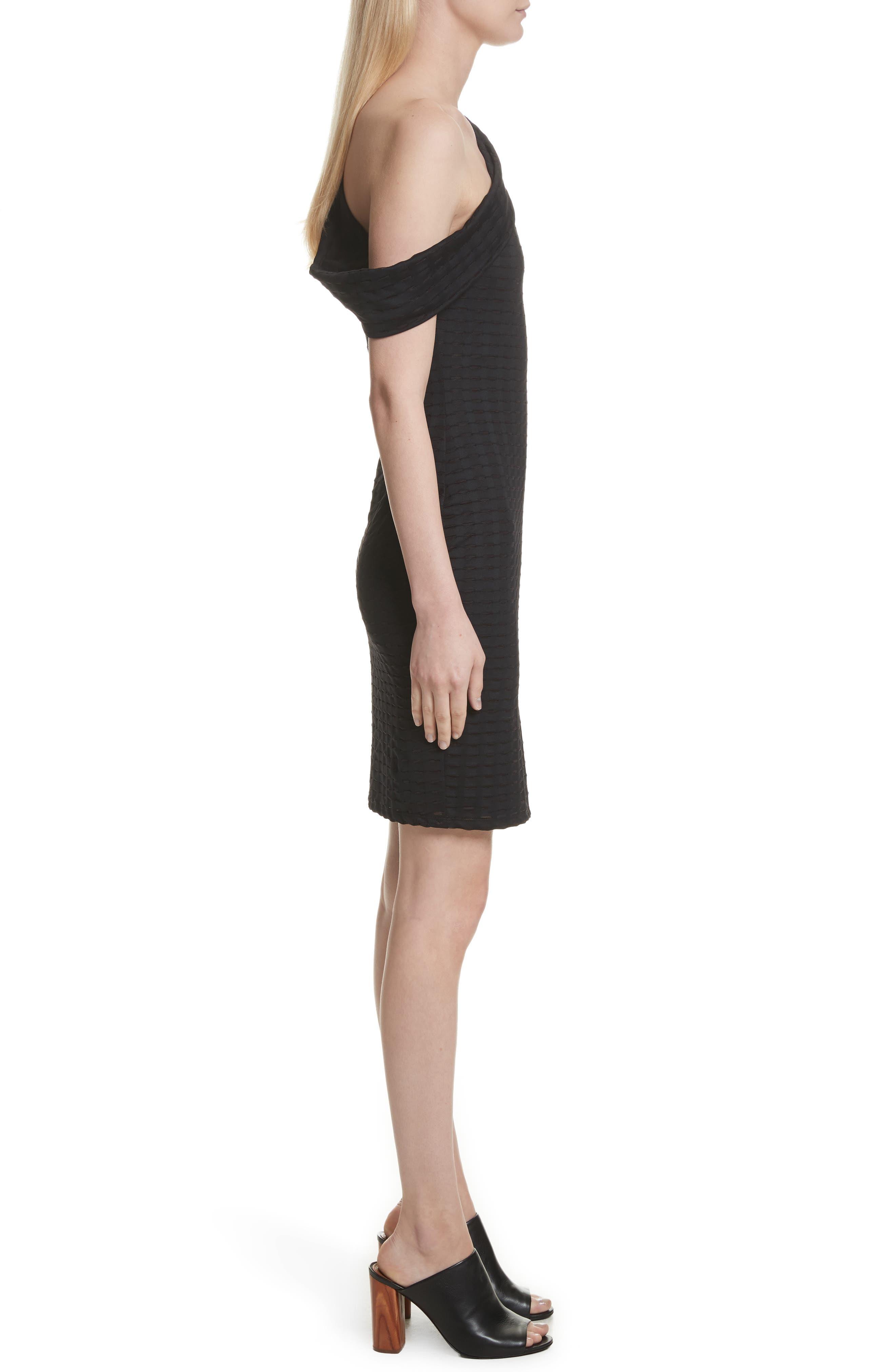One-Shoulder Minidress,                             Alternate thumbnail 3, color,                             001