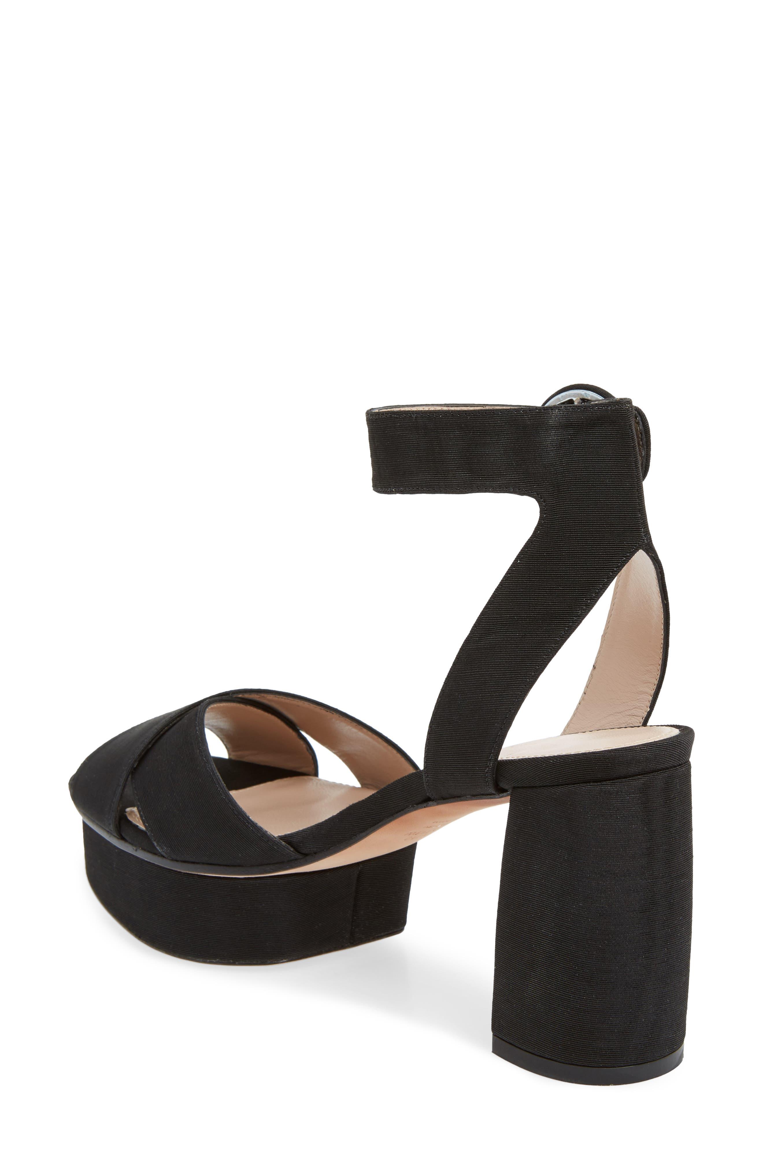 Carmina Ankle Strap Platform Sandal,                             Alternate thumbnail 2, color,                             001
