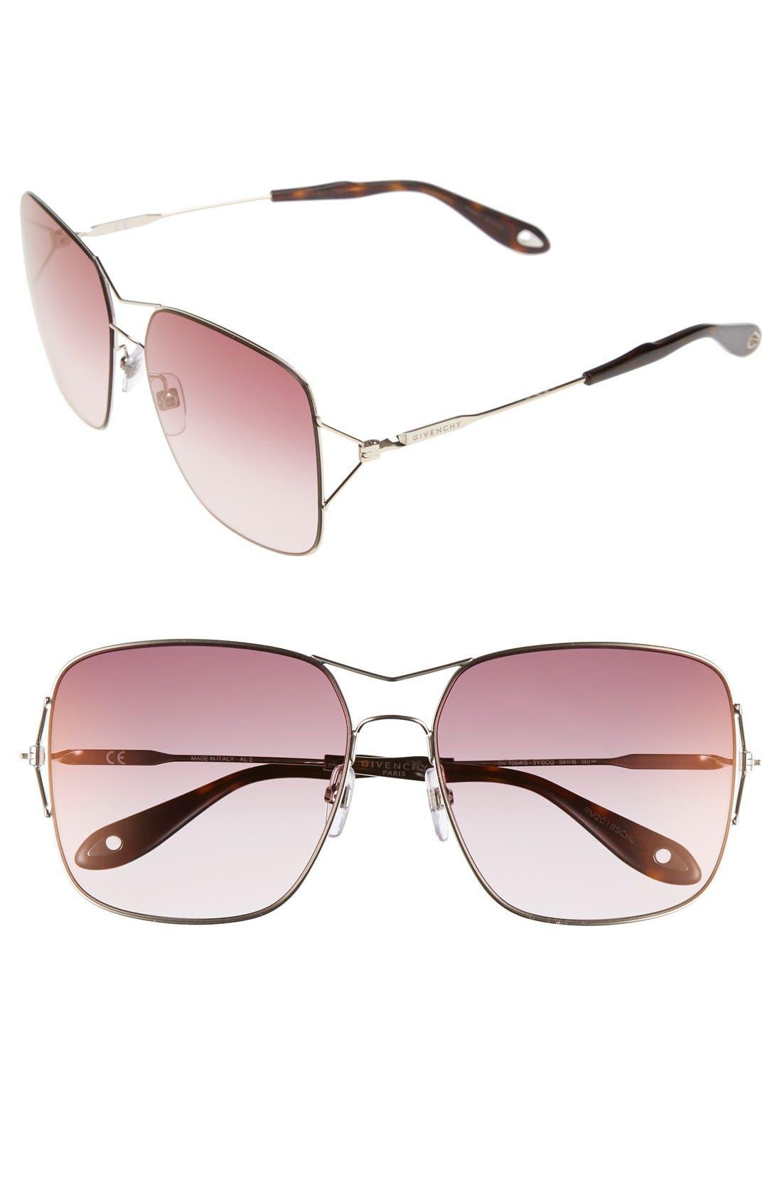 58mm Sunglasses,                             Main thumbnail 4, color,
