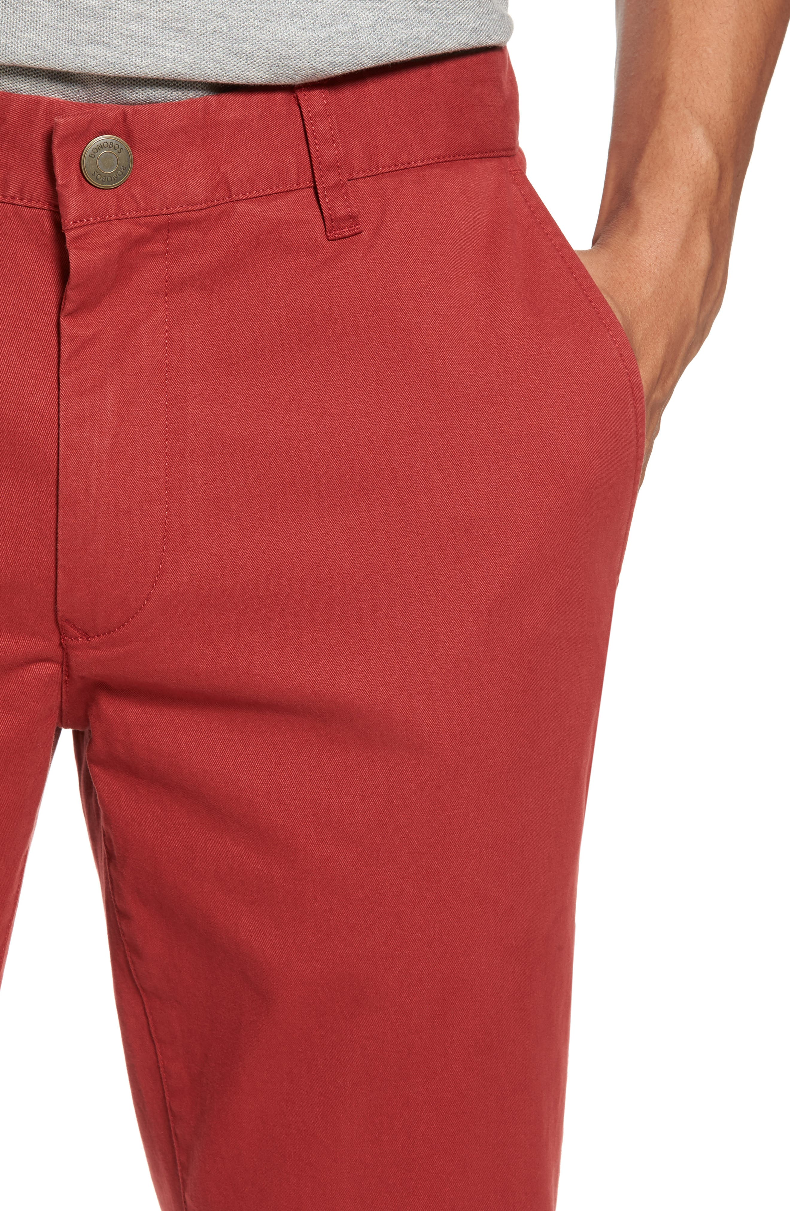 Tailored Fit Washed Stretch Cotton Chinos,                             Alternate thumbnail 140, color,