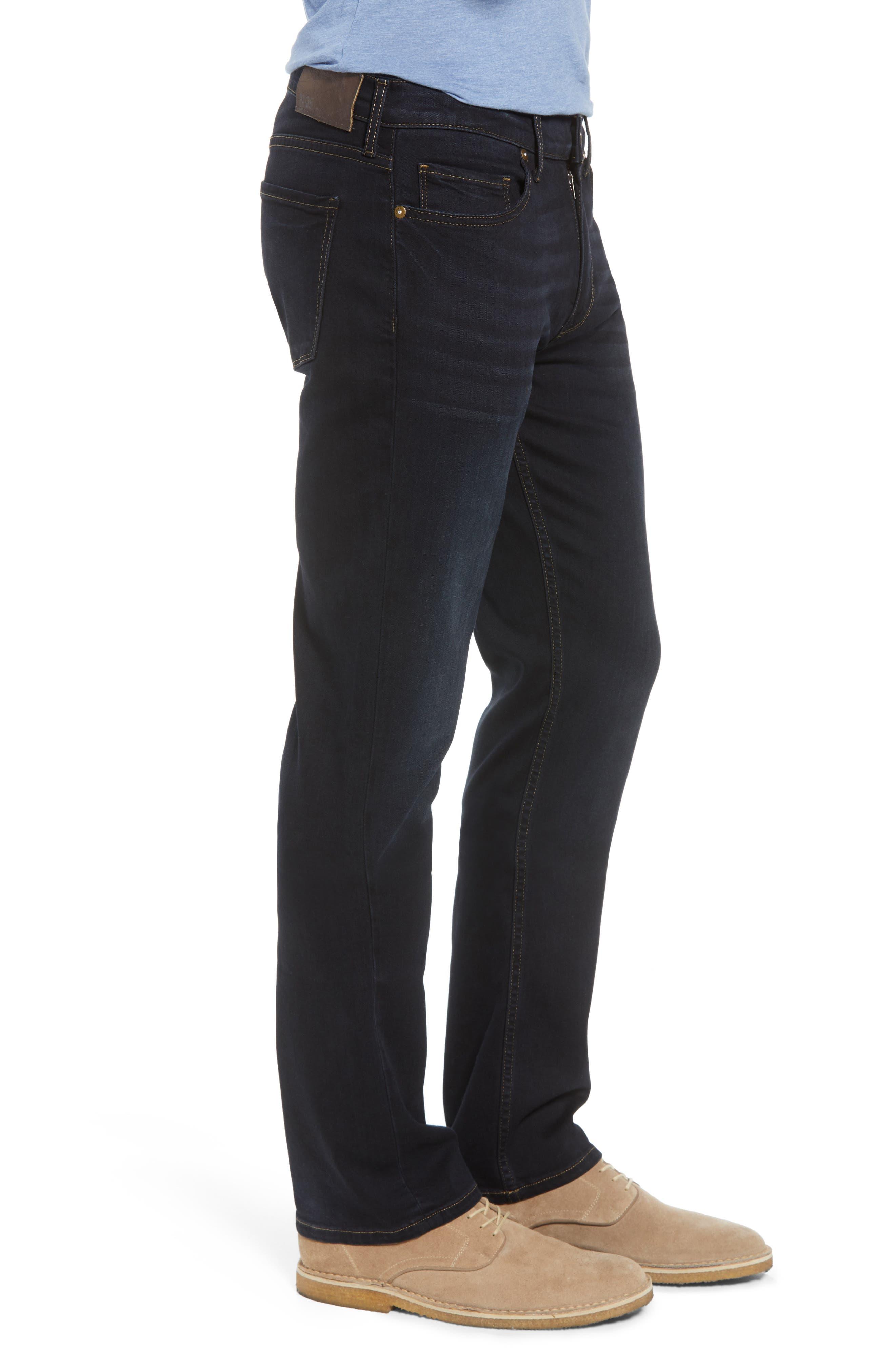 Transcend - Normandie Straight Leg Jeans,                             Alternate thumbnail 3, color,                             400