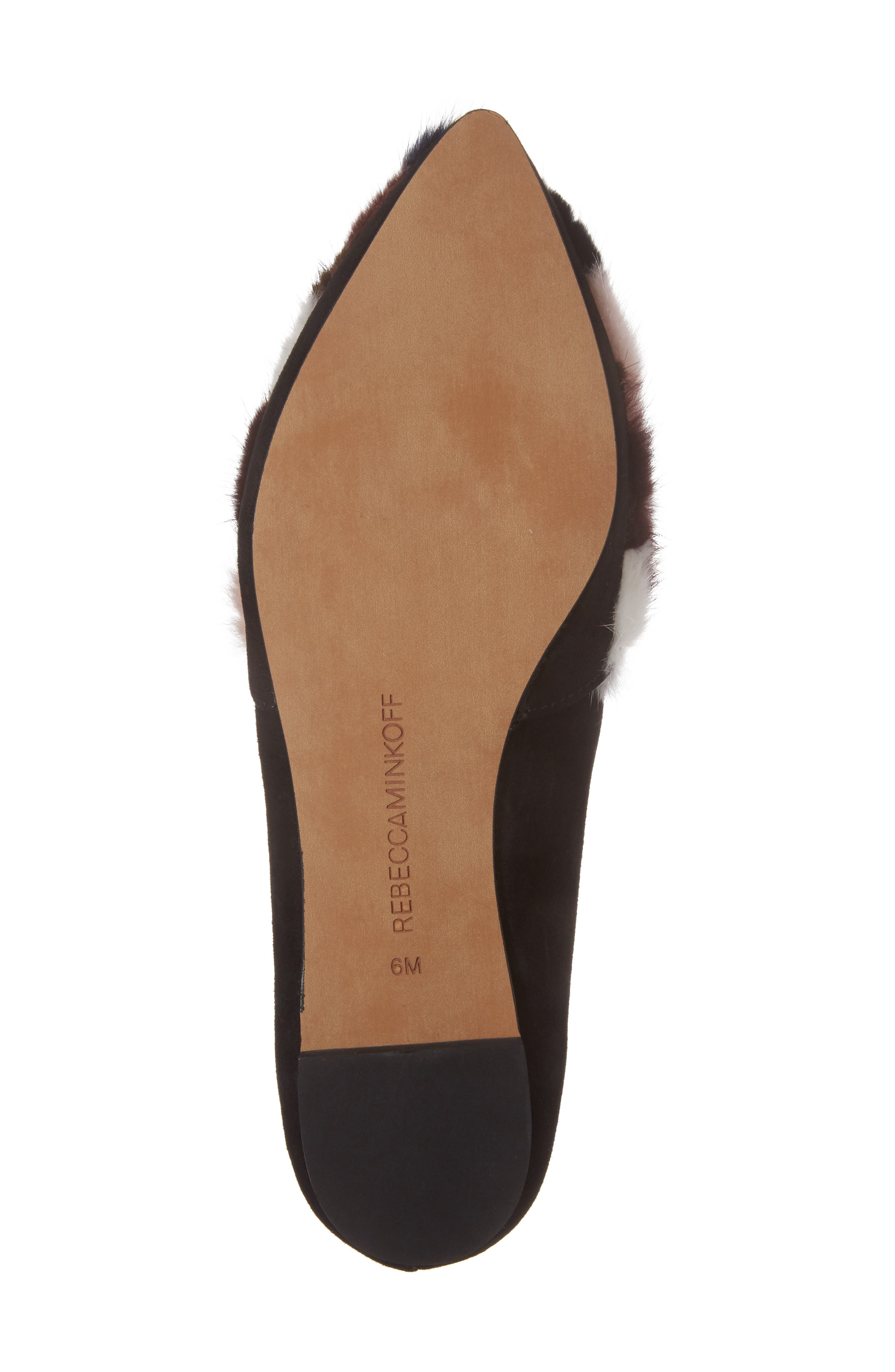 Amelie Genuine Mink Fur Flat,                             Alternate thumbnail 6, color,
