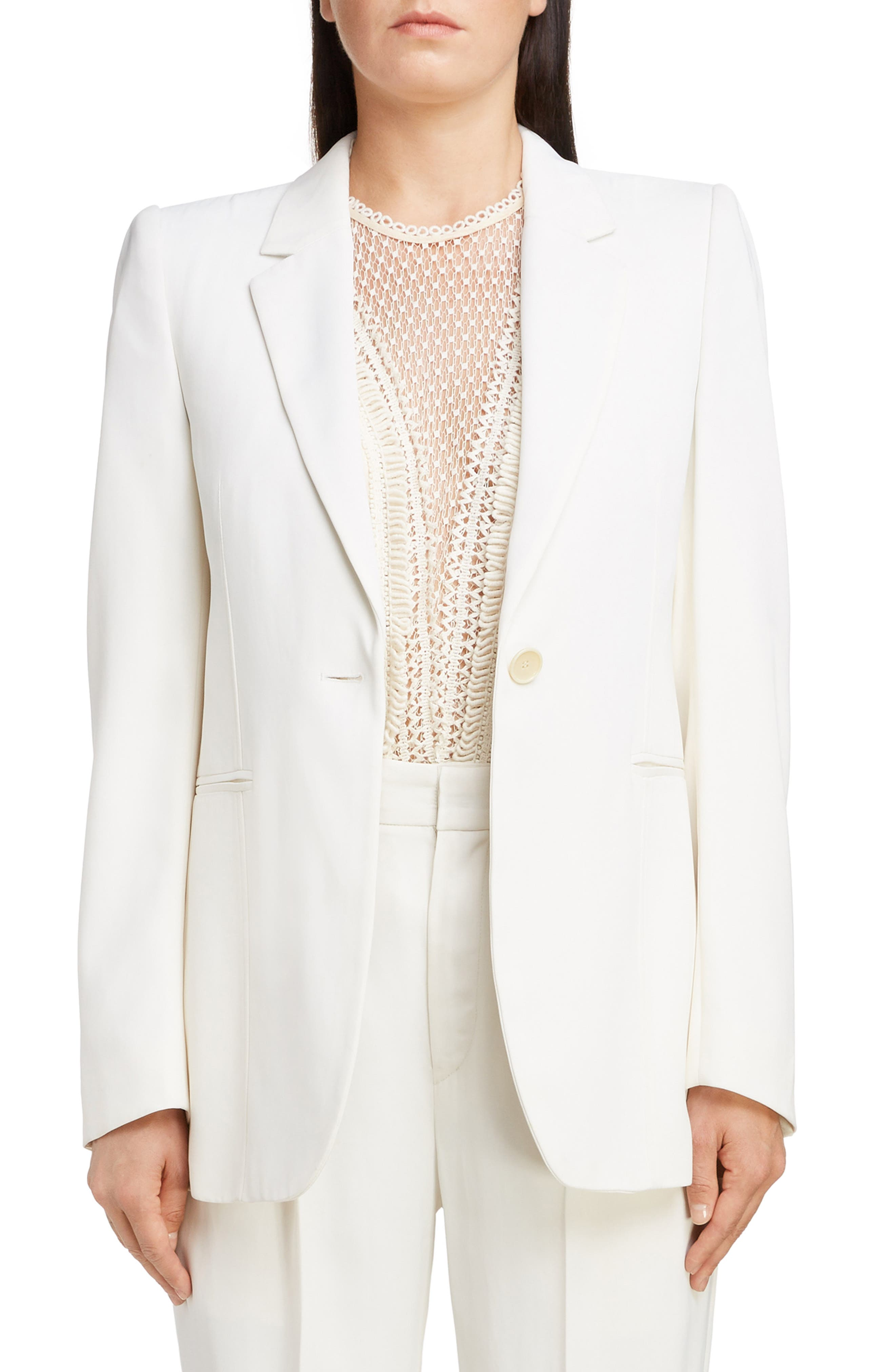 Blazer,                             Main thumbnail 1, color,                             WHITE