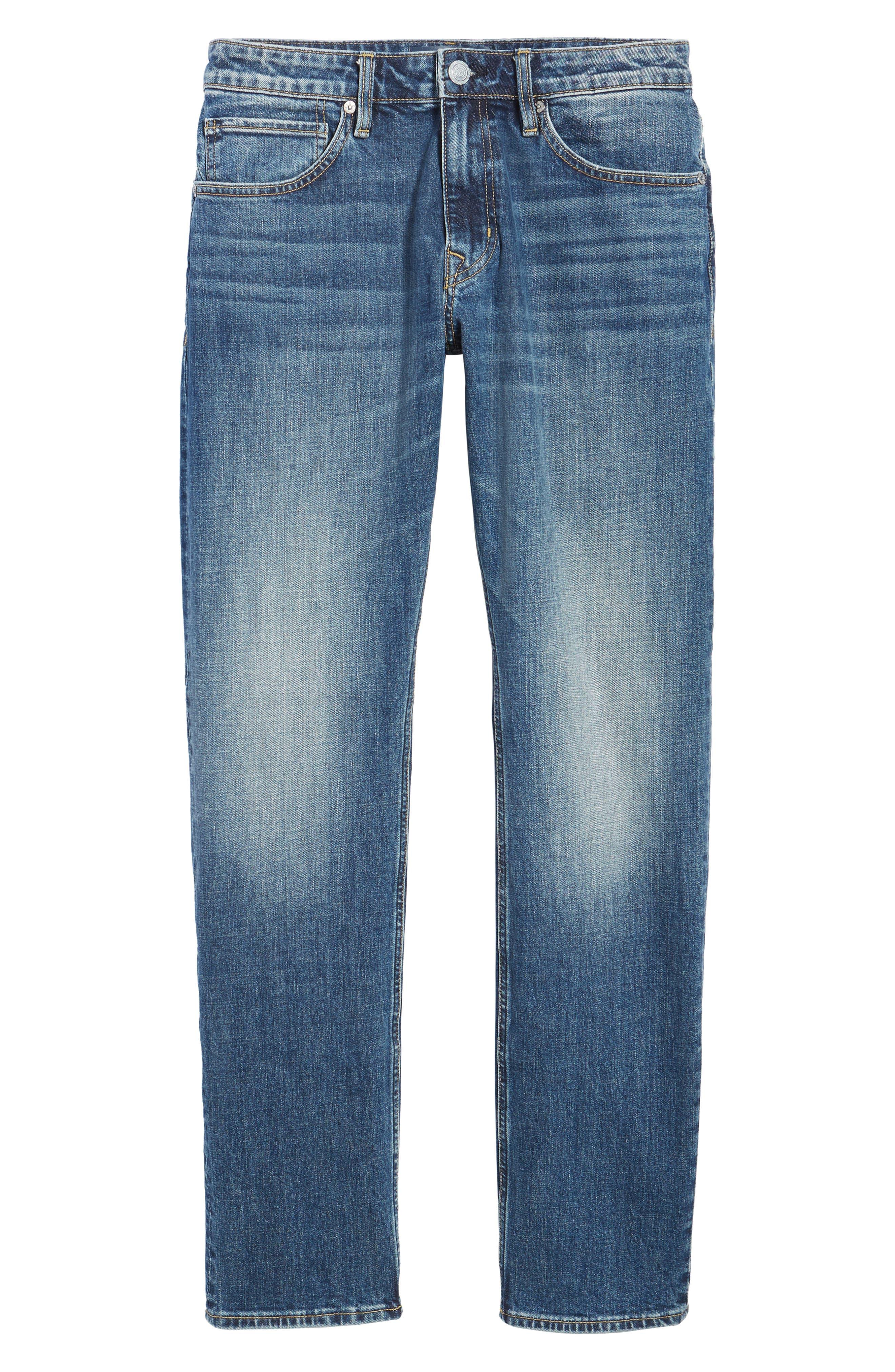 Slim Straight Leg Jeans,                             Alternate thumbnail 6, color,                             400
