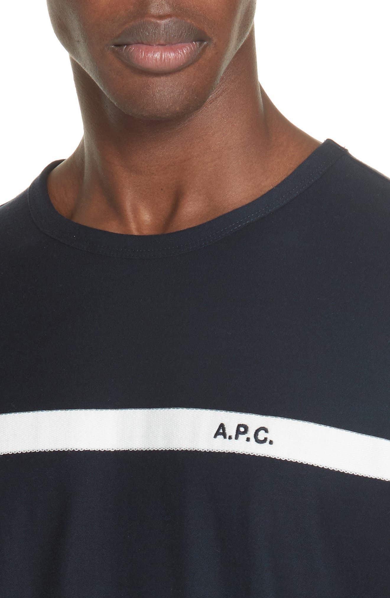 Stripe Logo T-Shirt,                             Alternate thumbnail 4, color,                             IAK NAVY