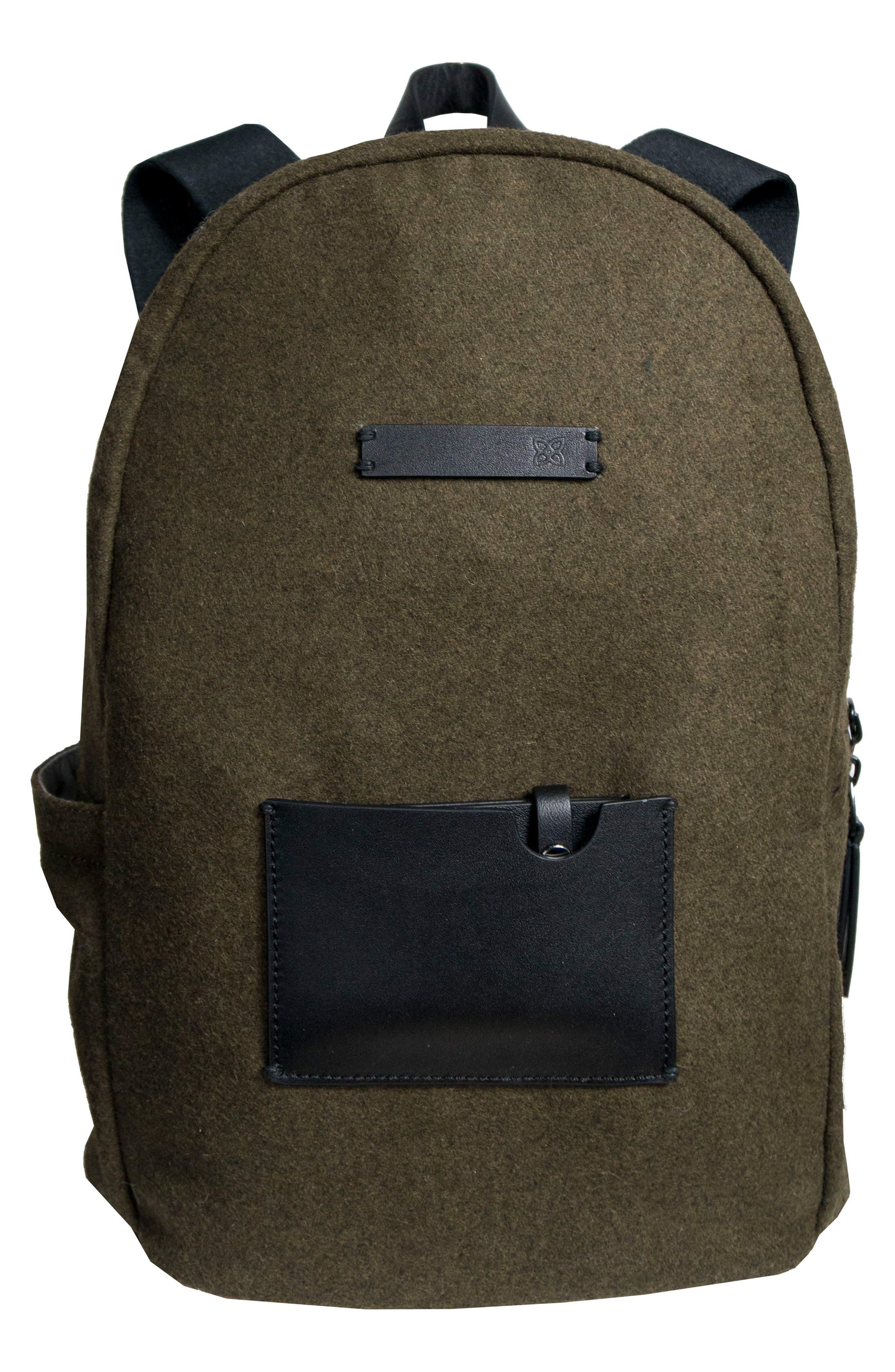 Indie Boiled Wool Backpack,                             Main thumbnail 3, color,