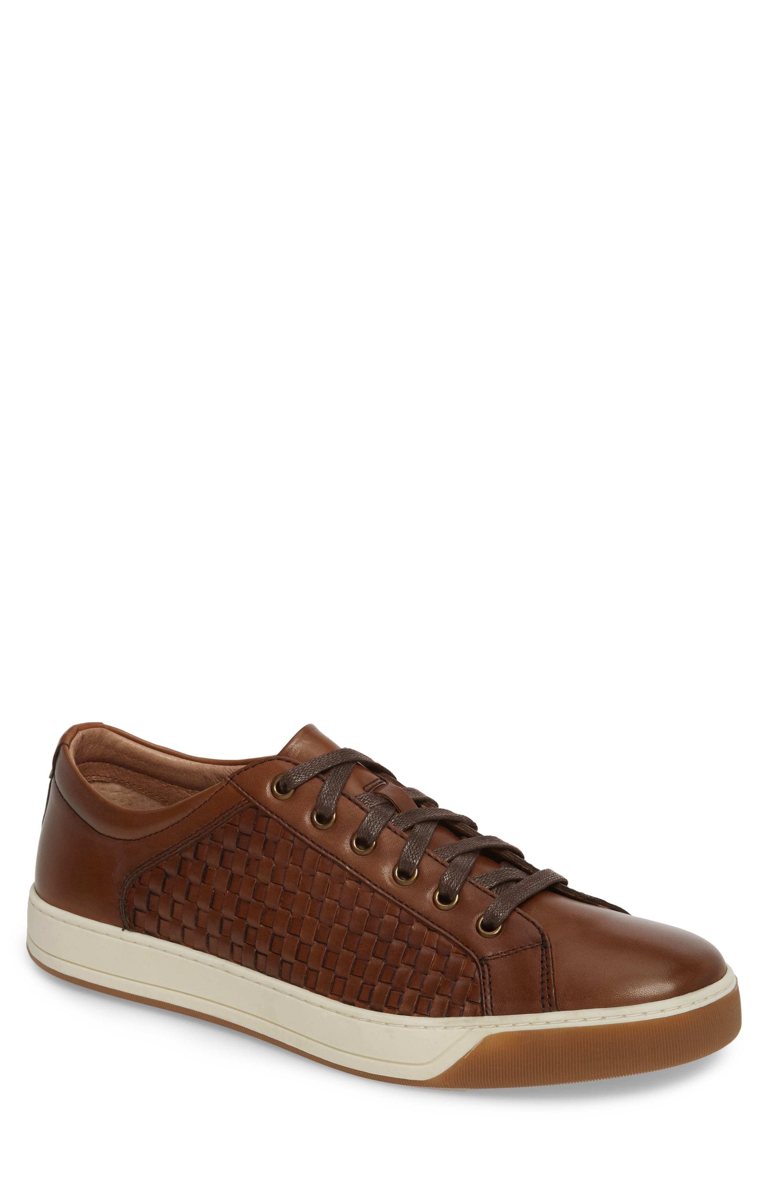 Allister Woven Low Top Sneaker,                             Main thumbnail 1, color,                             BROWN