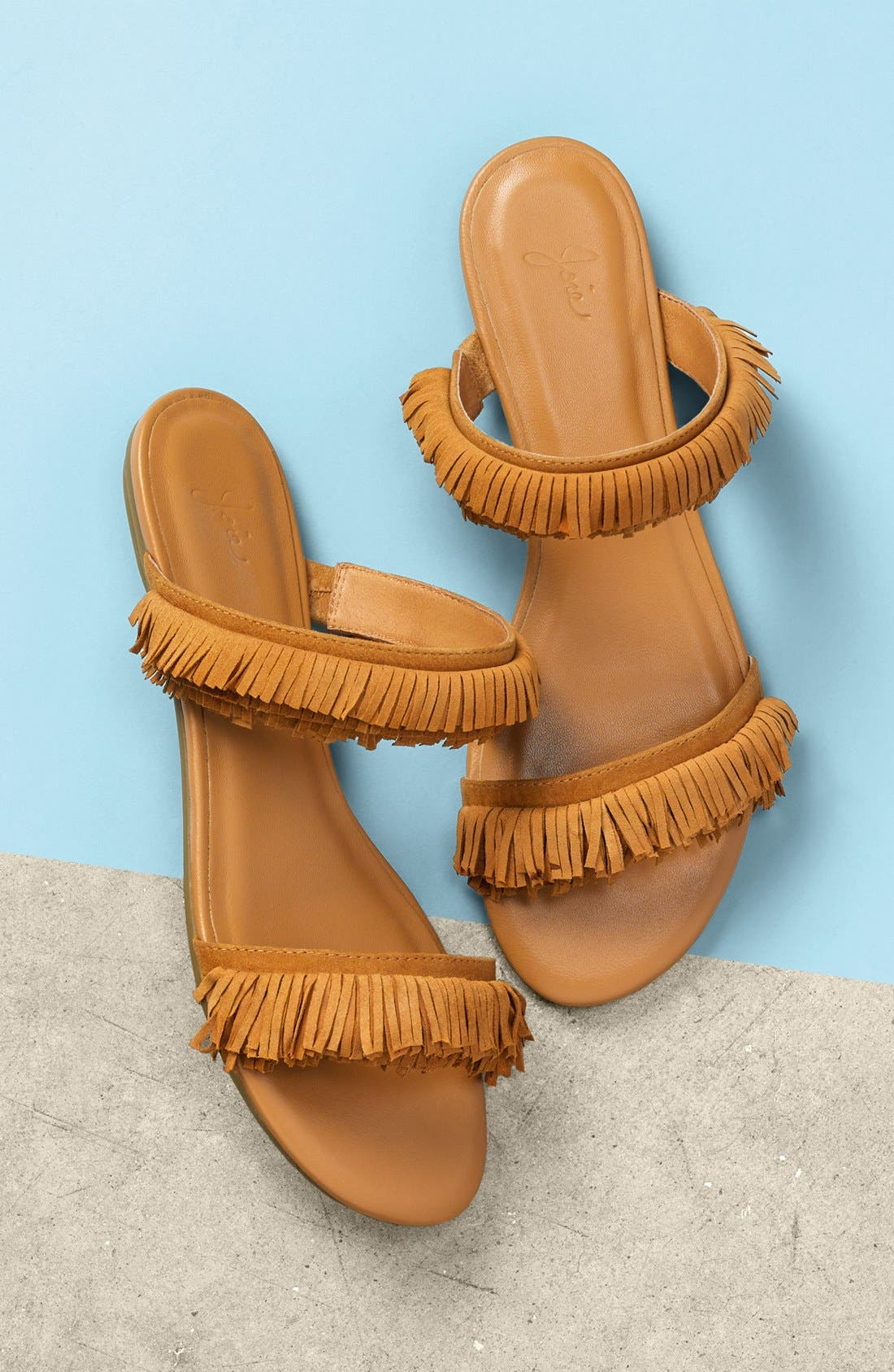 'Pippa' Fringe Slide Sandal,                             Alternate thumbnail 6, color,                             229