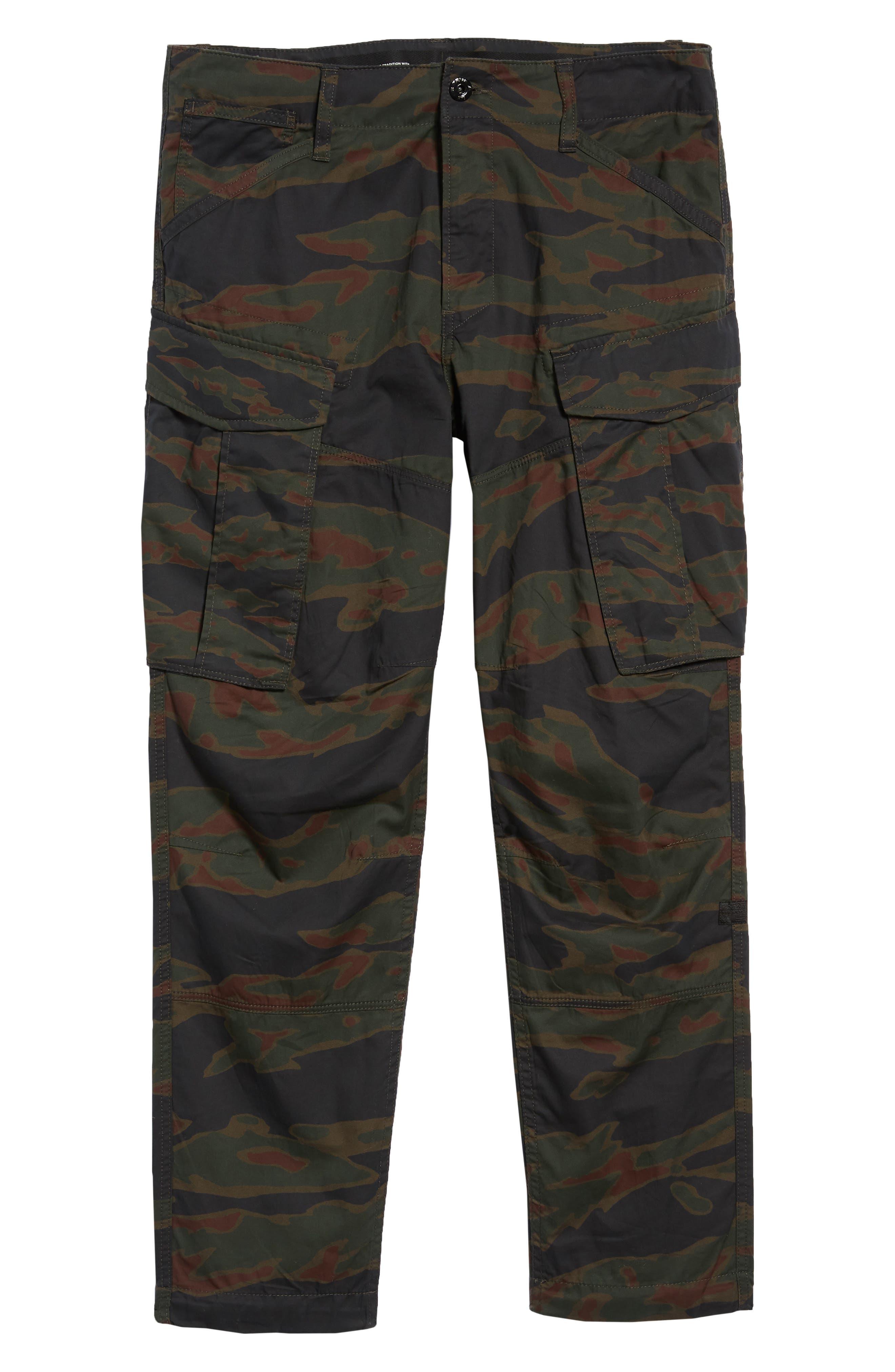 Rovic Tapered Cargo Pants,                             Alternate thumbnail 6, color,                             SMOKE GREEN/ DARK VERMO