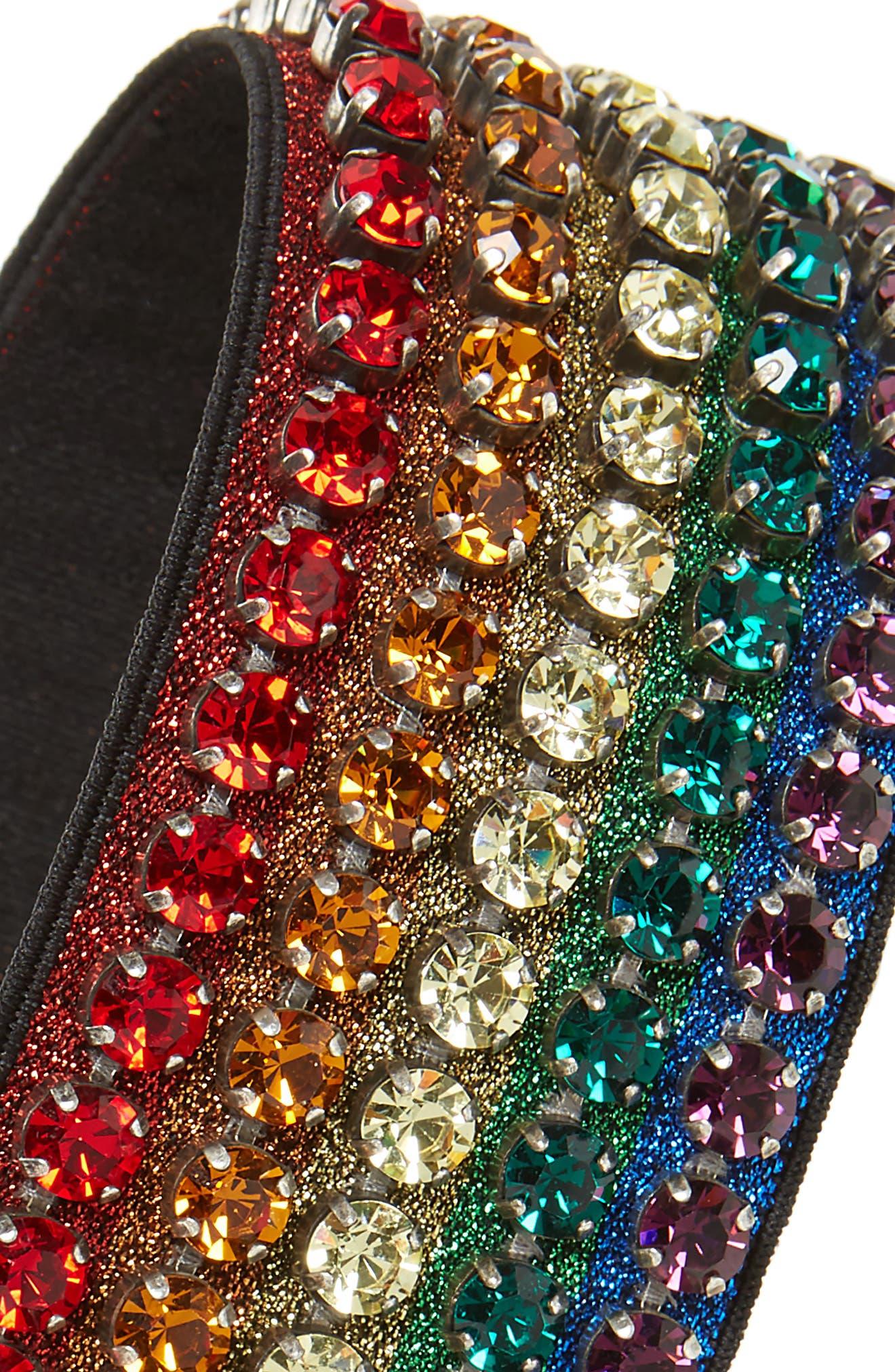 Webby Rainbow Crystal Headband,                             Alternate thumbnail 3, color,