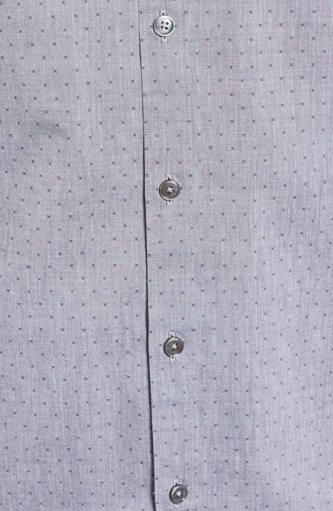 Yama Trim Fit Geometric Sport Shirt,                             Alternate thumbnail 5, color,
