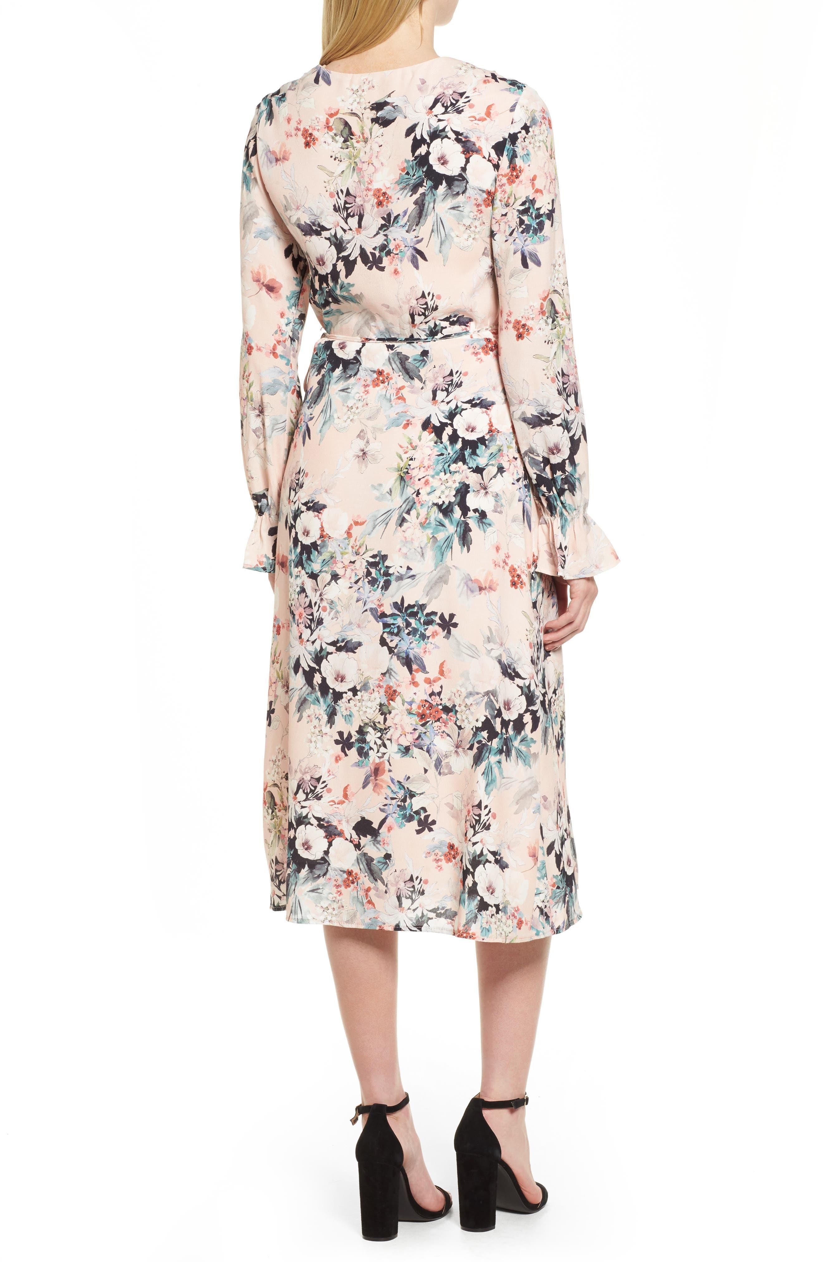 Midi Wrap Dress,                             Alternate thumbnail 2, color,                             680