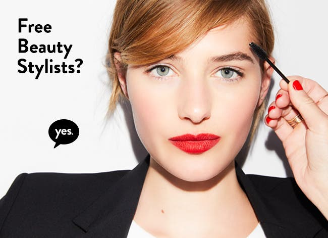Free beauty stylists? Yes.