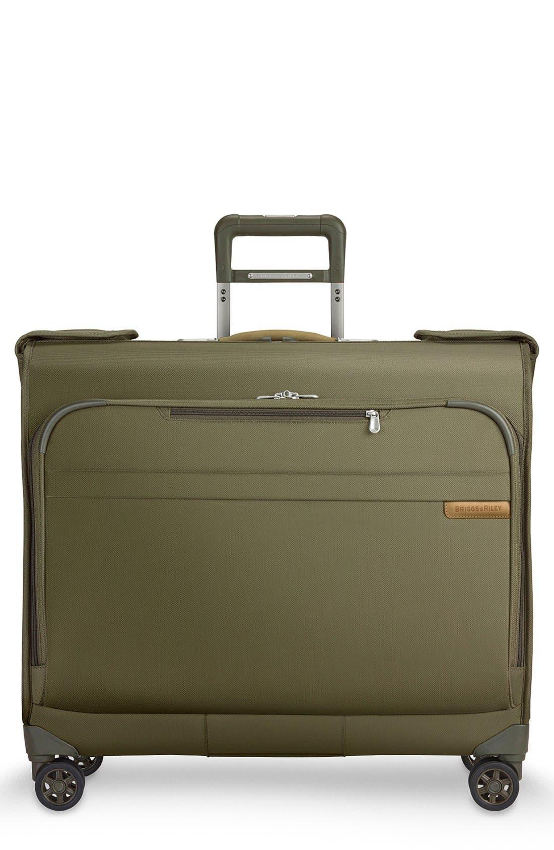 'Baseline' Wheeled Garment Bag,                             Main thumbnail 1, color,                             OLIVE GREEN