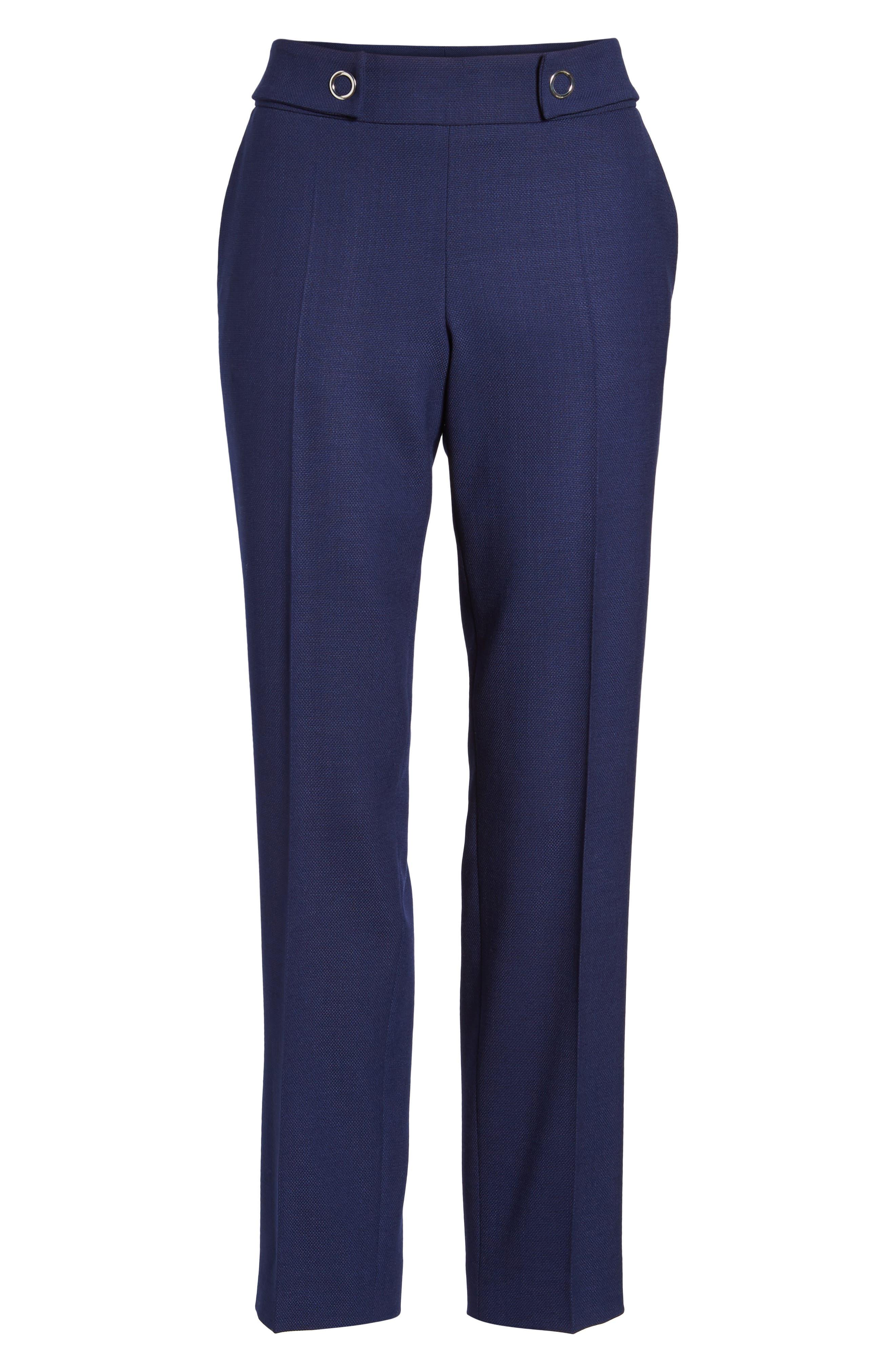 Tibalena Textured Stretch Wool Suit Pants,                             Alternate thumbnail 7, color,                             425