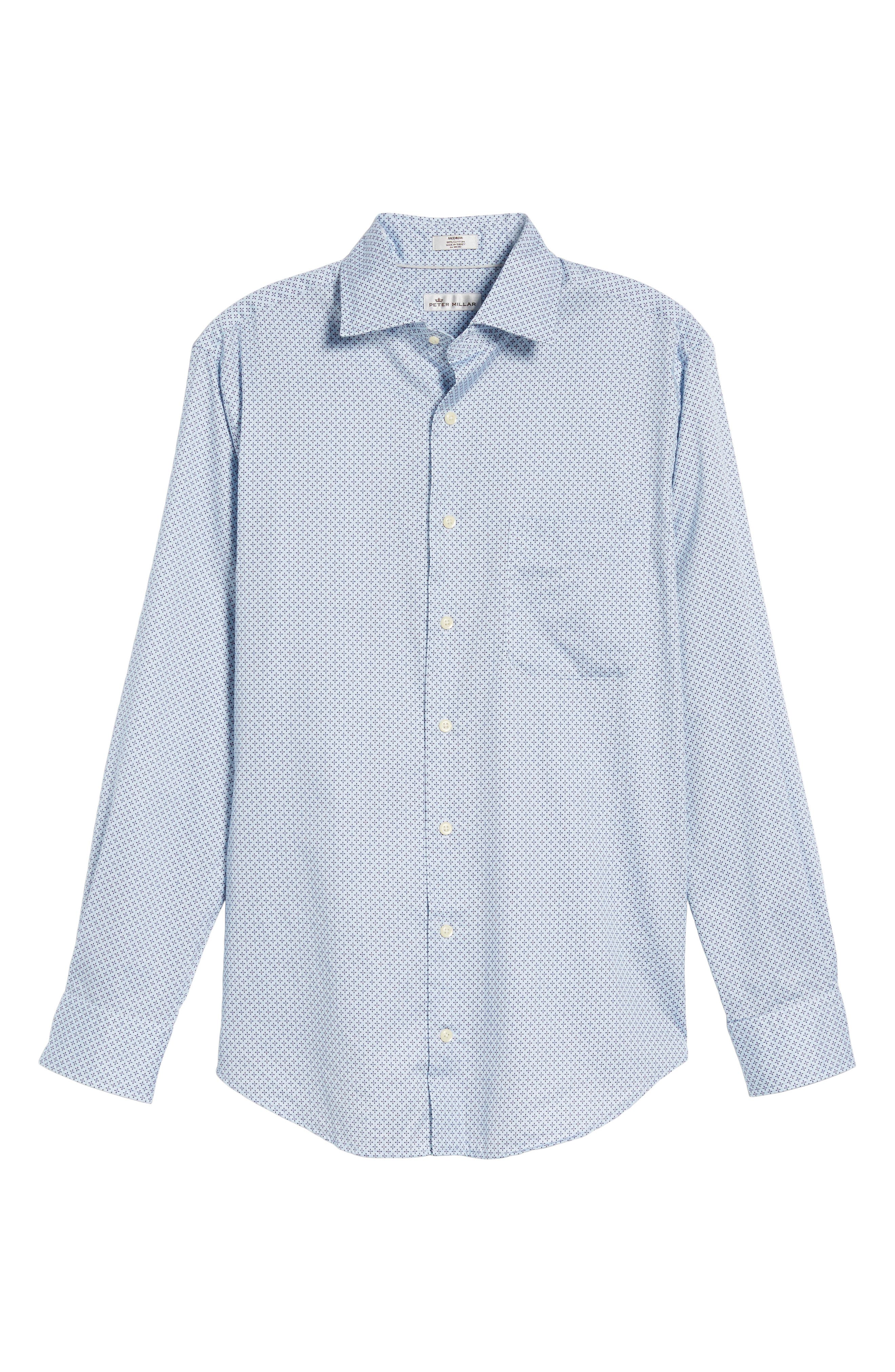 Flashback Classic Fit Print Sport Shirt,                             Alternate thumbnail 6, color,