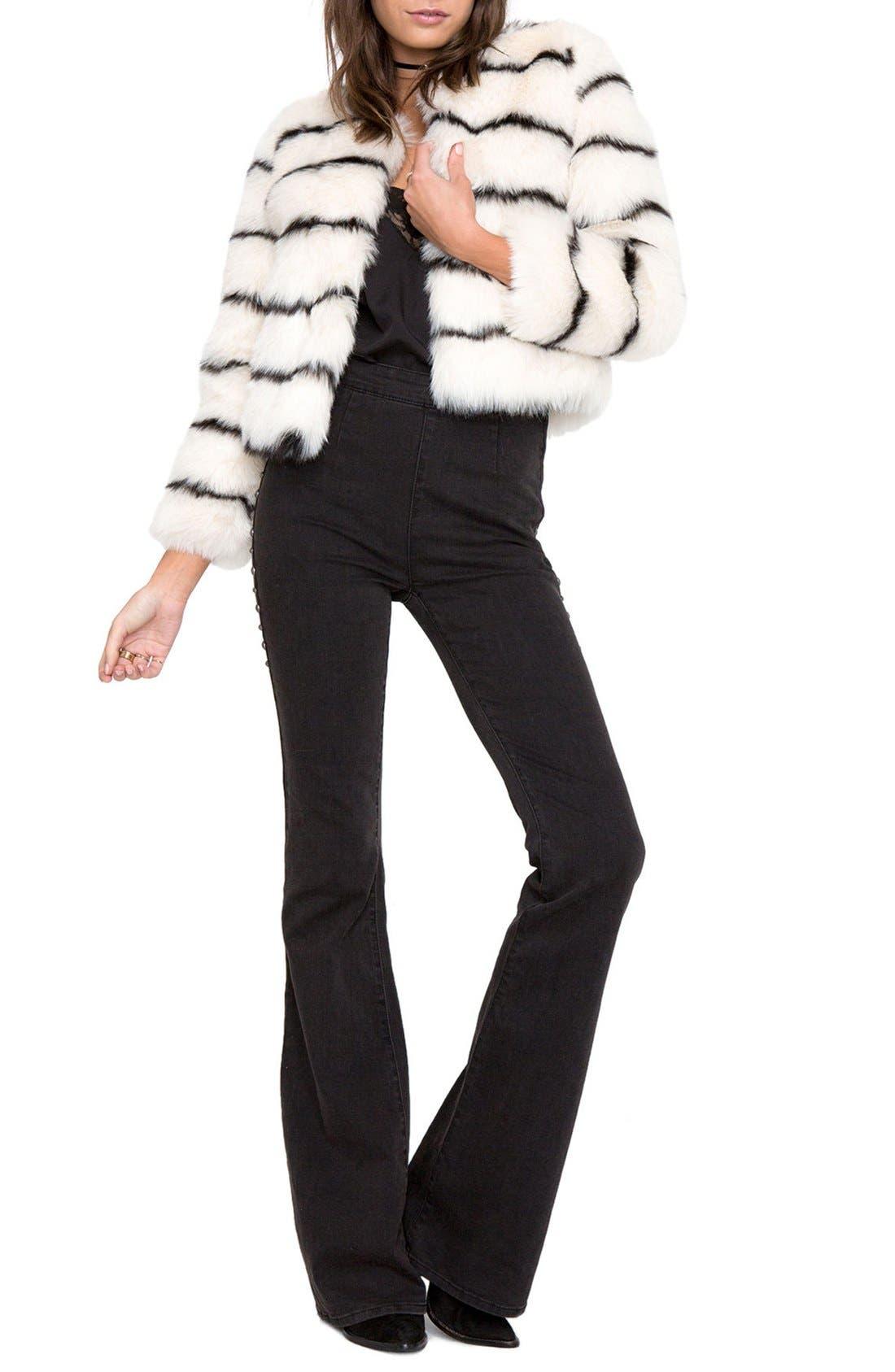 Tahlia Faux Fur Jacket,                             Alternate thumbnail 6, color,
