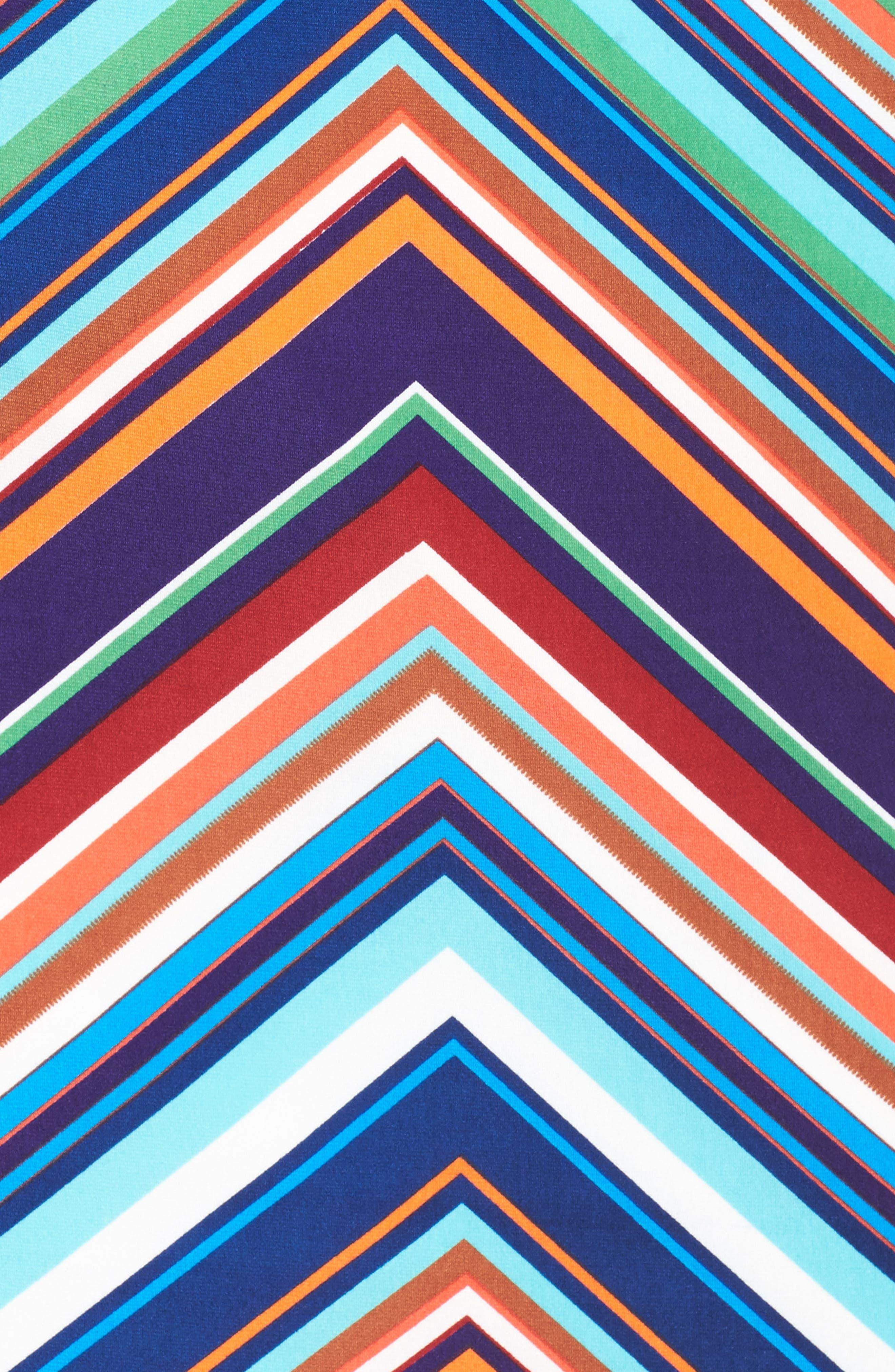 Stripe Midi Dress,                             Alternate thumbnail 5, color,                             415