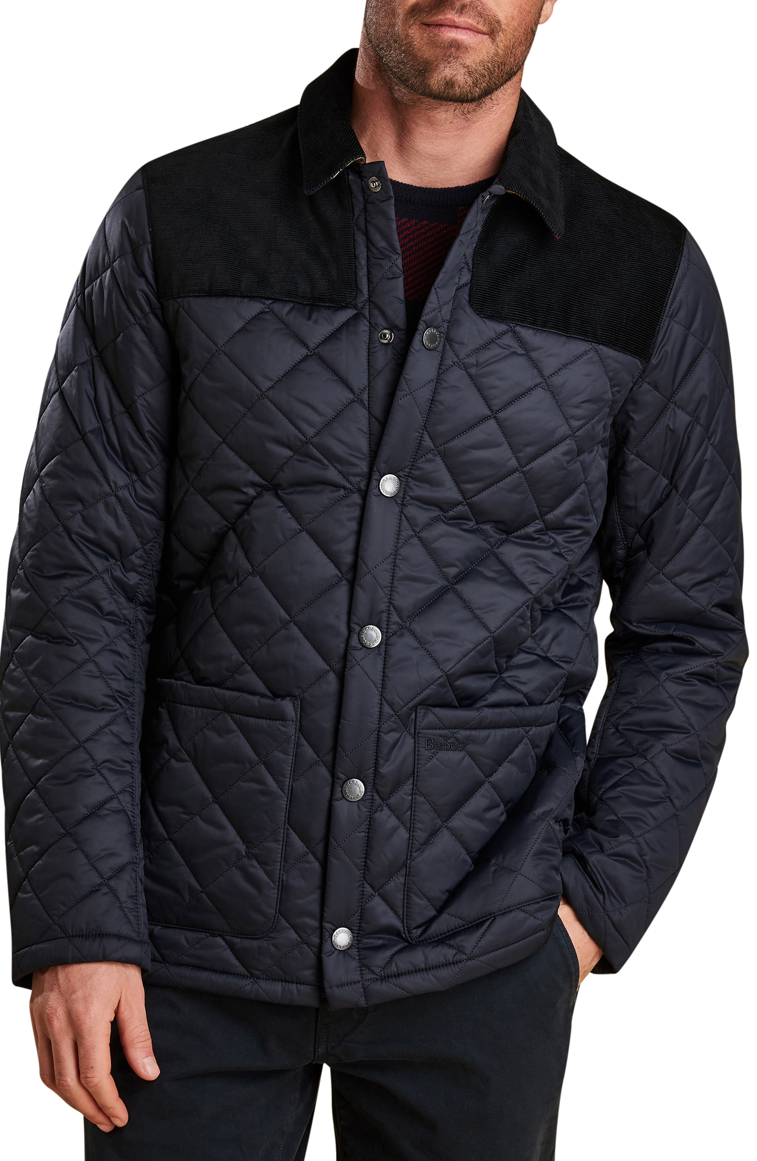 Barbour Gillock Quilted Jacket, Blue