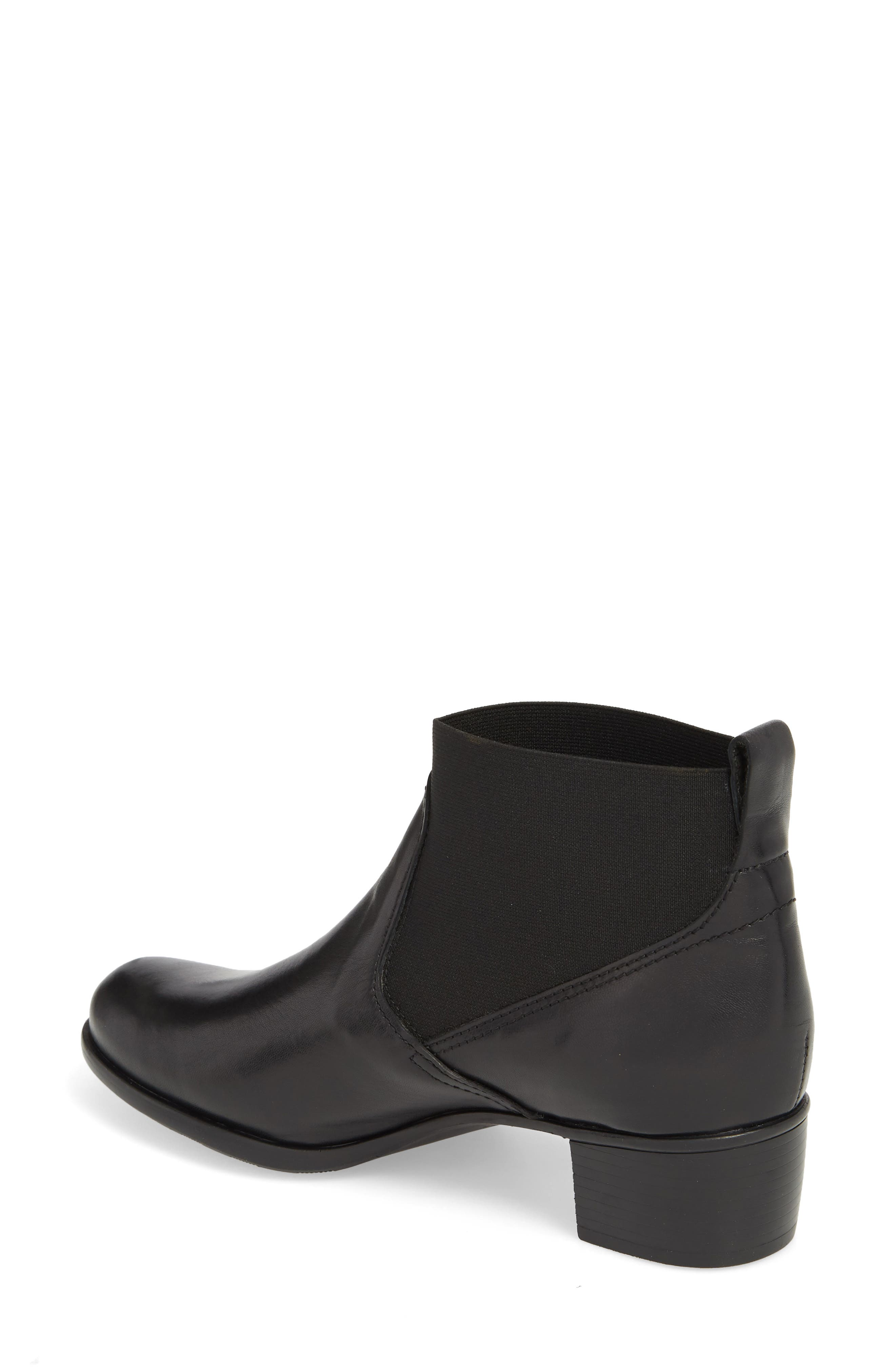 Ana Bootie,                             Alternate thumbnail 2, color,                             BLACK LEATHER