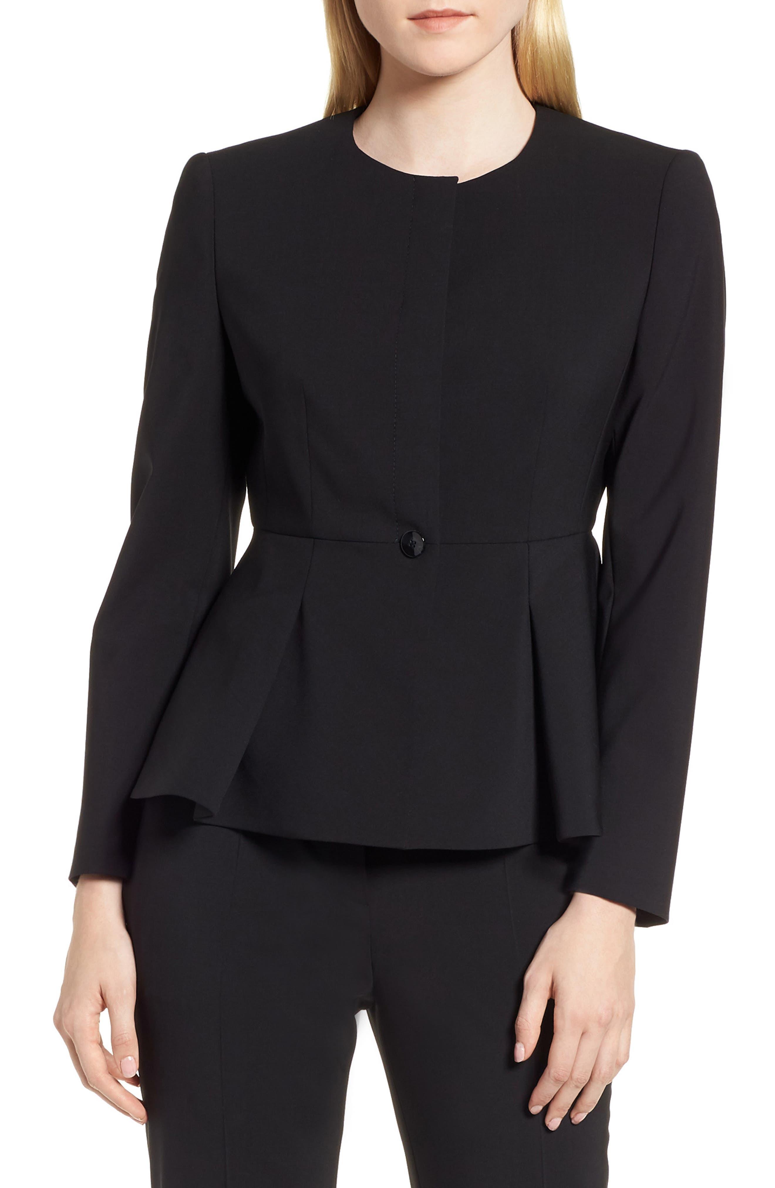 Jolanna Tropical Stretch Wool Jacket,                         Main,                         color, 001